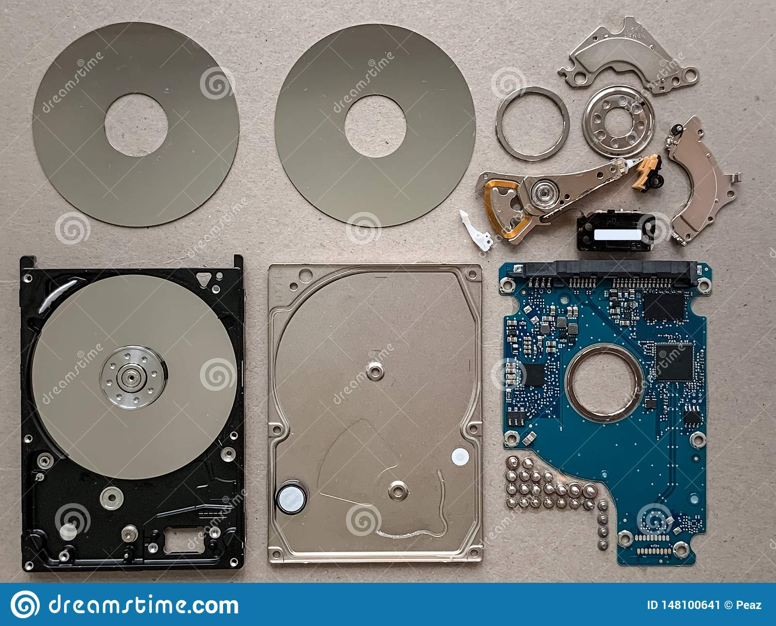 Composants de lecteur de disque dur
