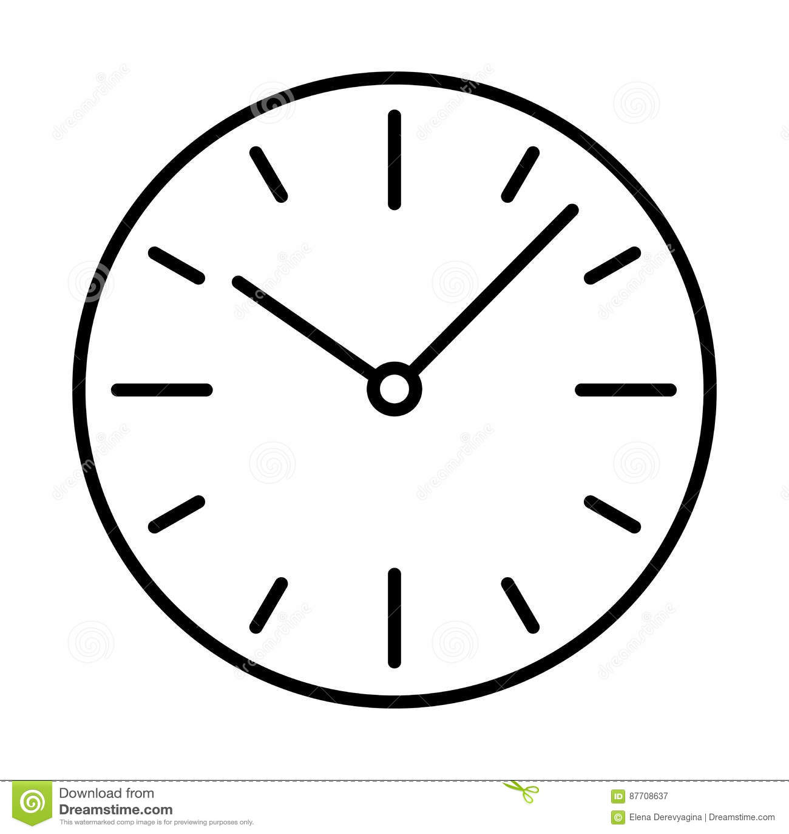 Composez la découpe de noir d icône d horloge de commutateurs sur le fond blanc de l illustration
