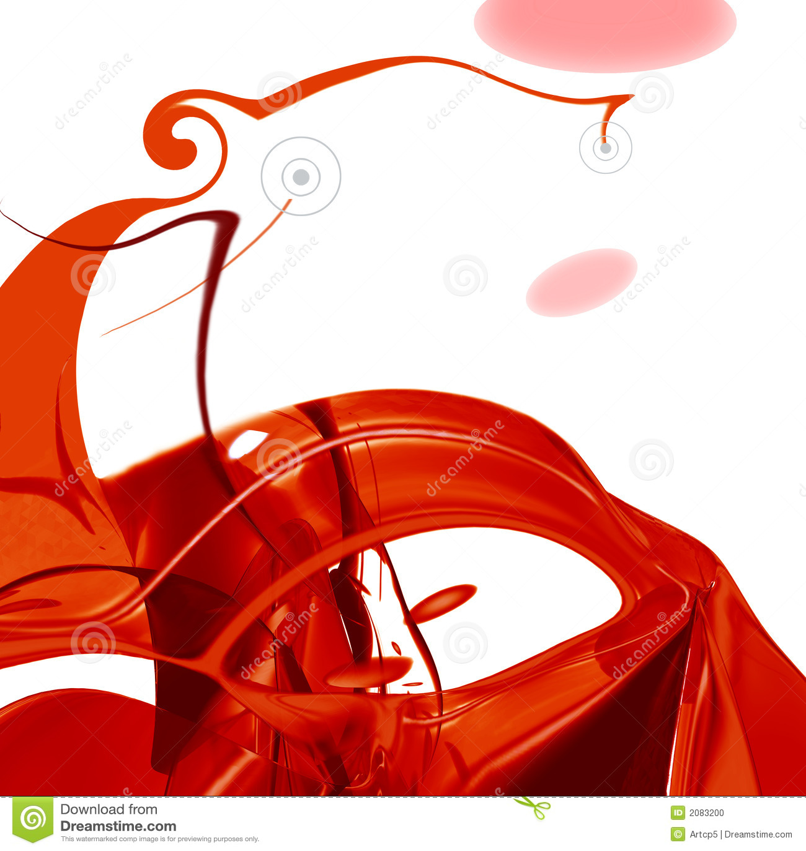 Composição abstrata vermelha