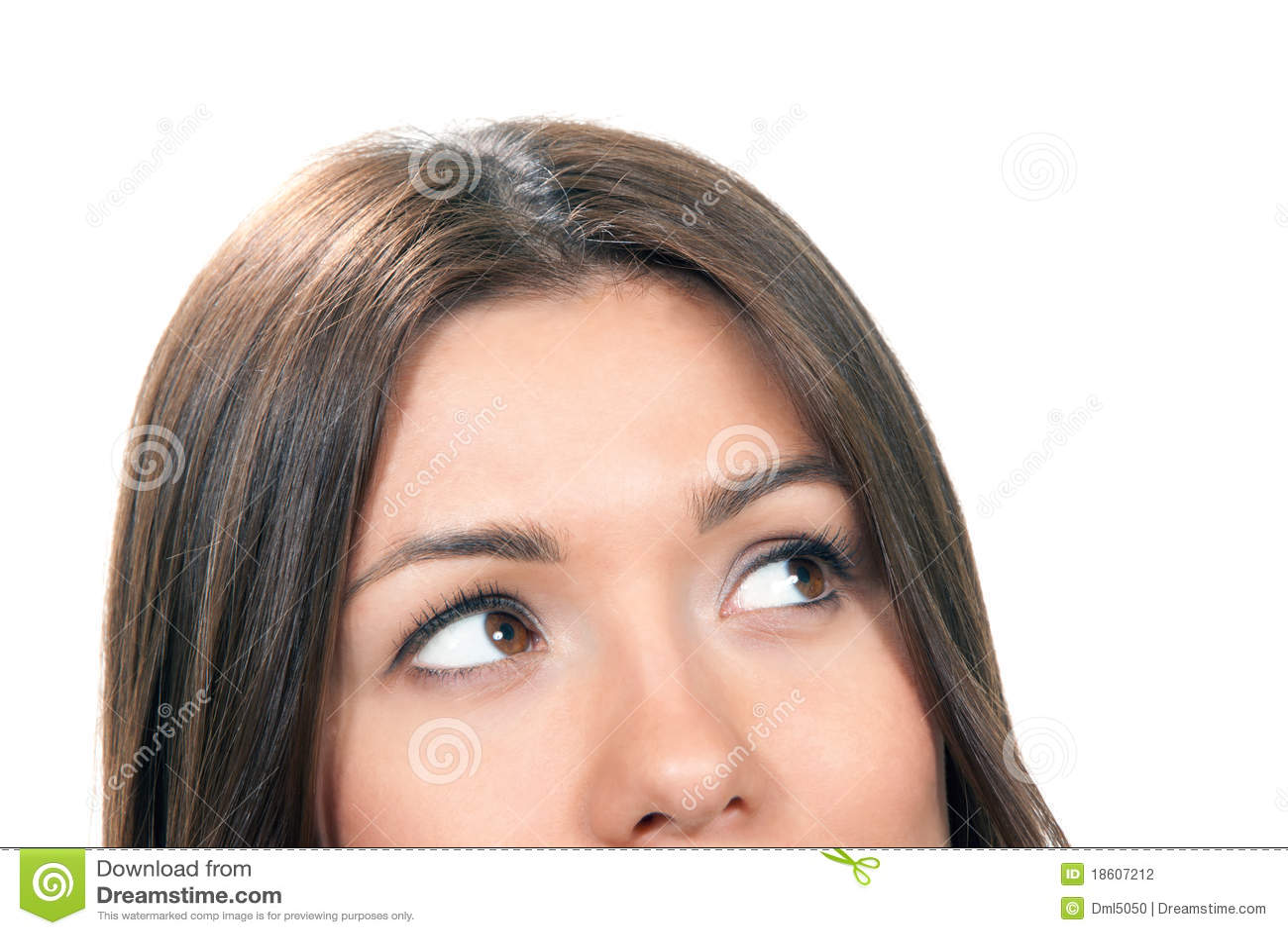 Composição bonita do close-up da face da mulher nova