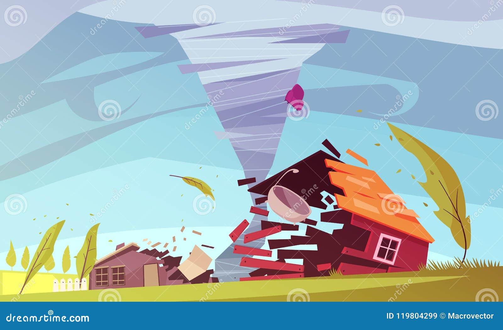 Composição da casa do vento de tempestade