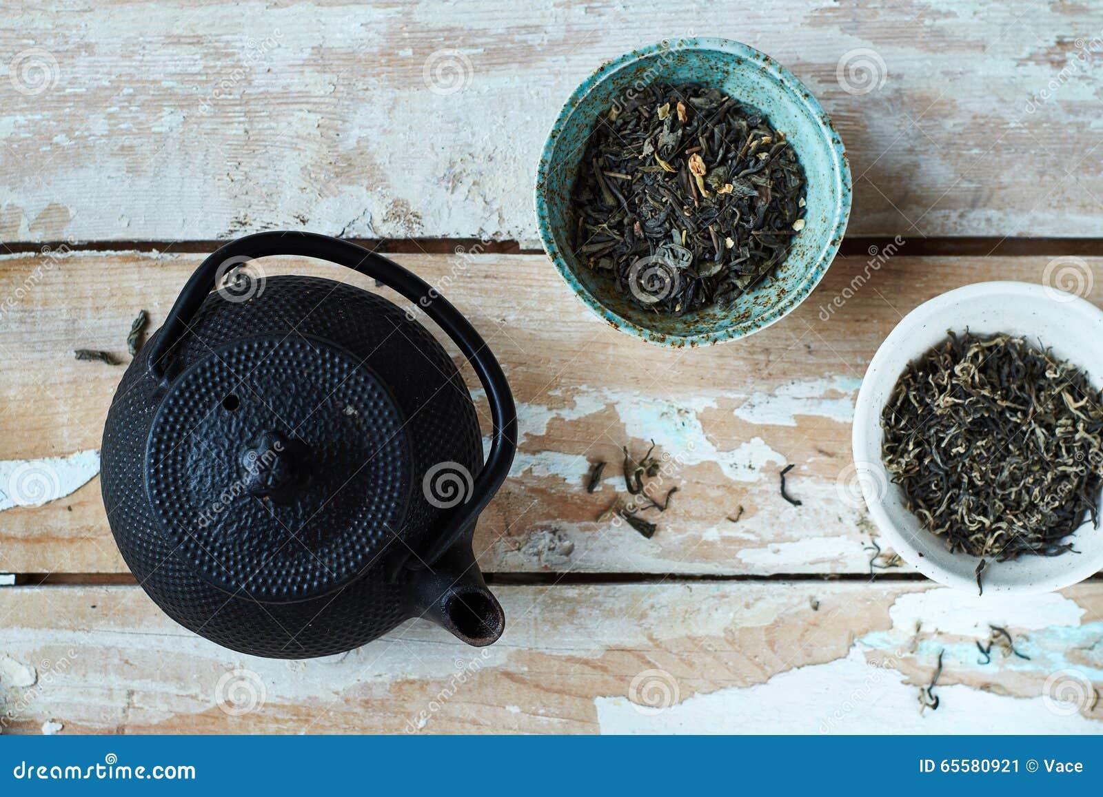 Composição da manhã do chá verde
