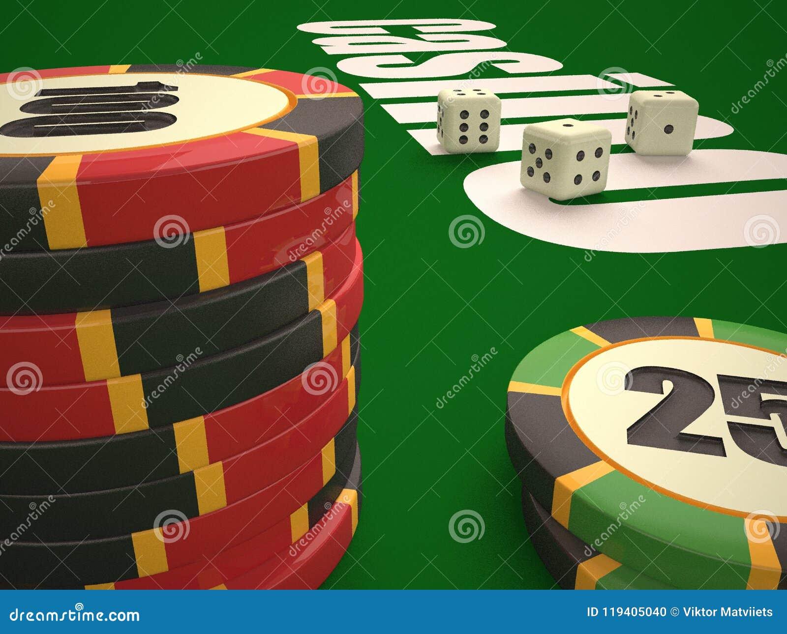 Composição de microplaquetas dos dados e do casino