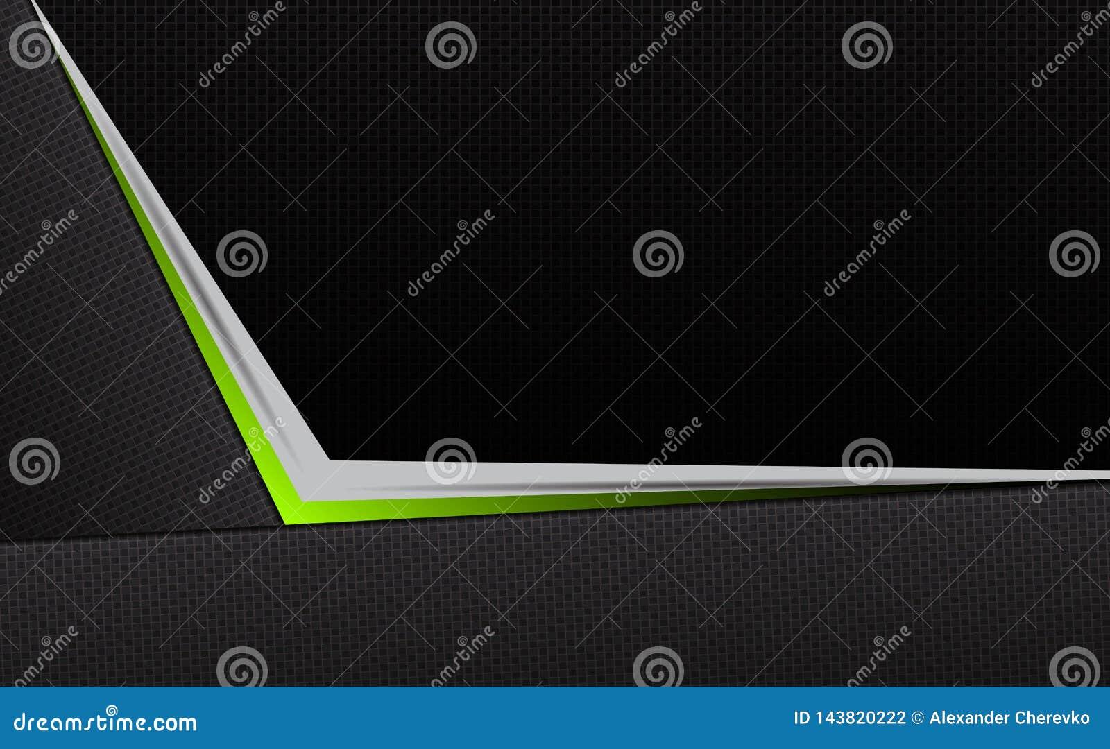 Composição escura abstrata geométrica da textura com uma seta verde da máscara