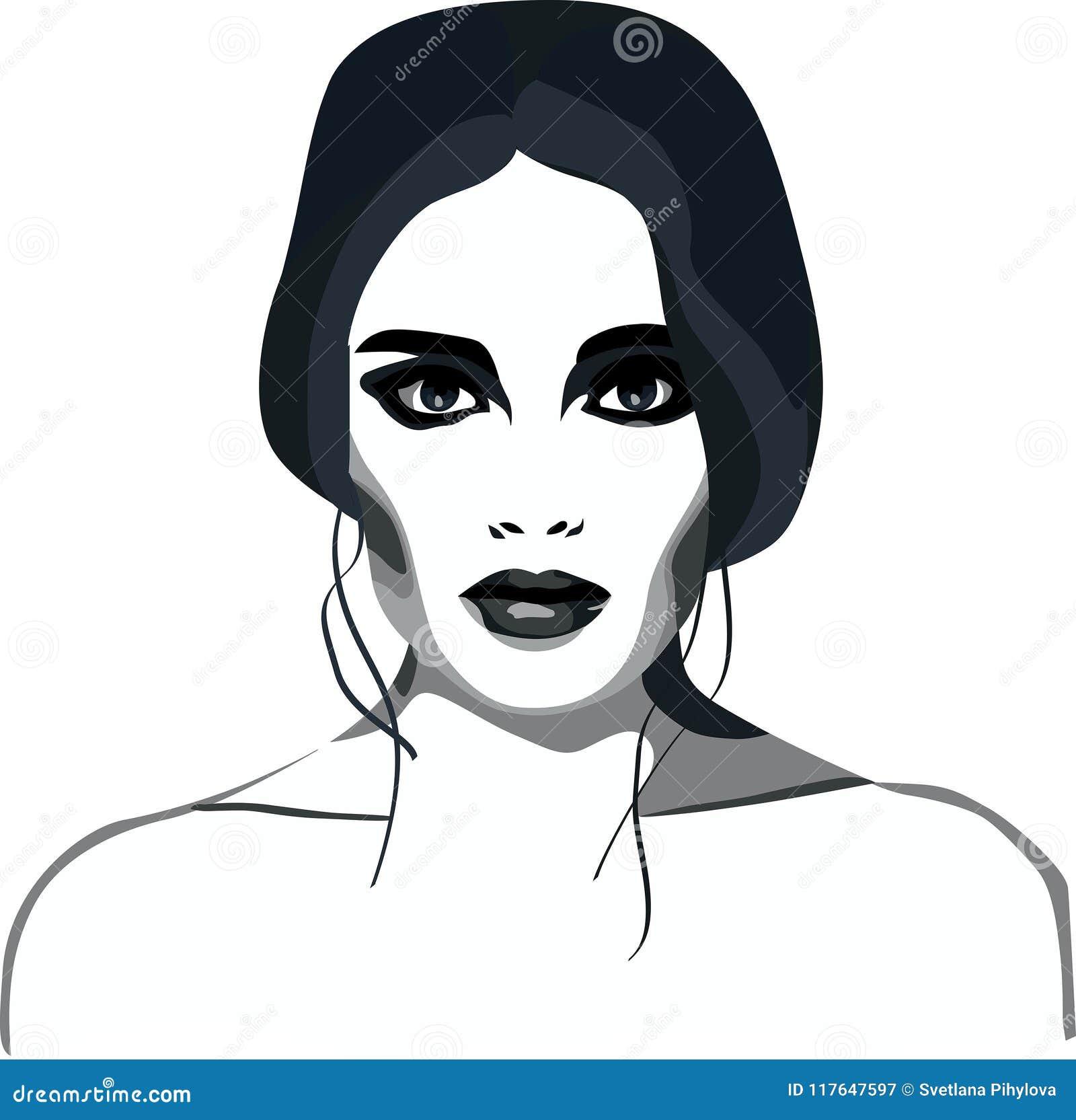 Composição fumarento do encanto da menina da forma dos olhos
