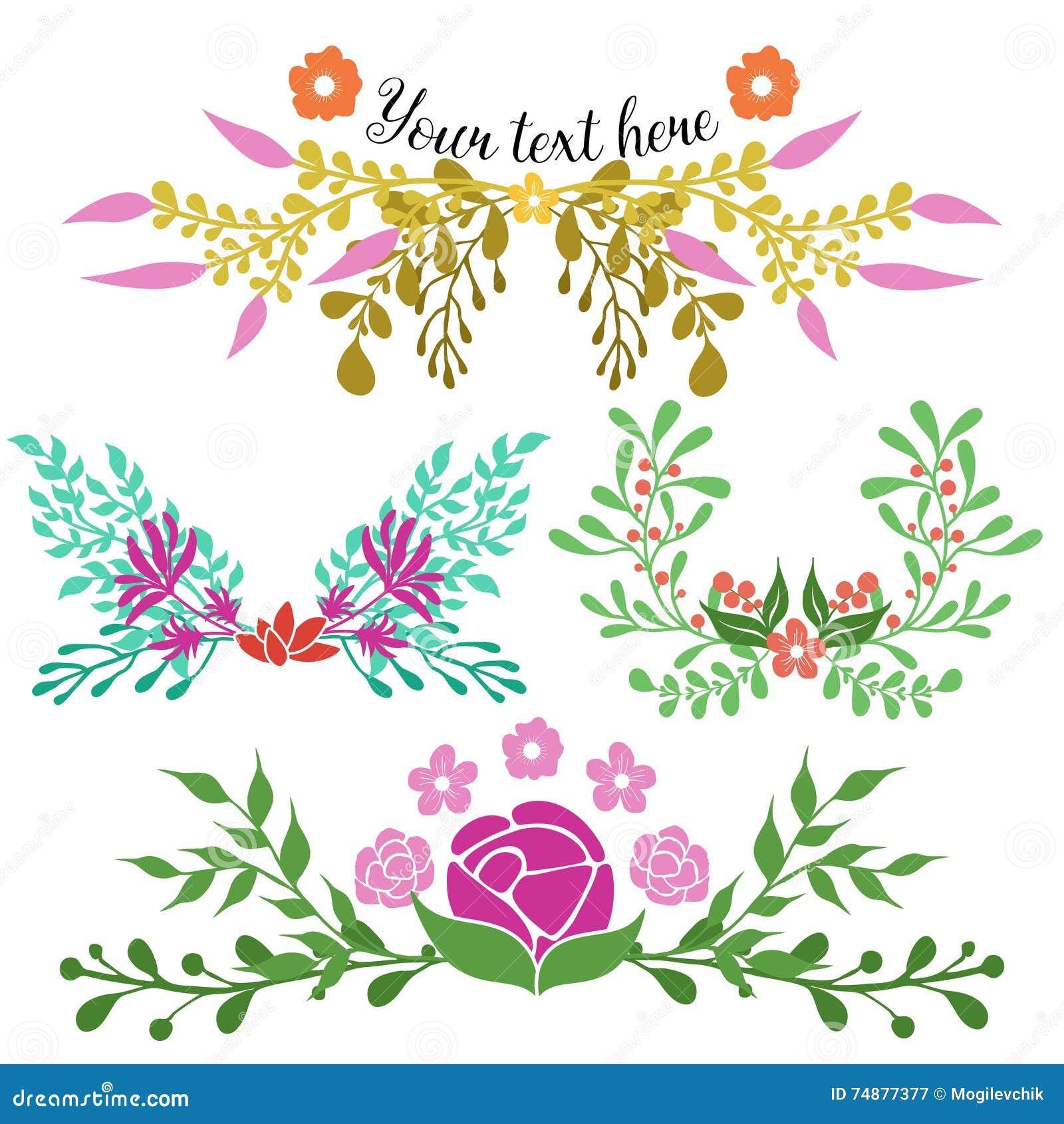 Composições florais tiradas mão