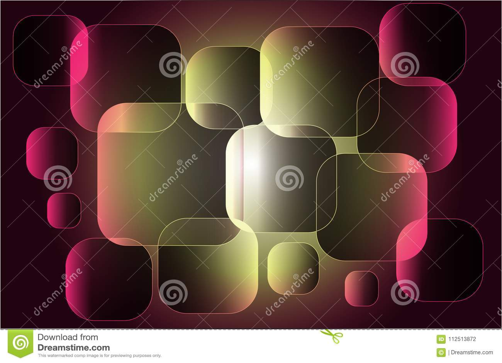 Composición abstracta de los cuadrados puestos encima de uno a