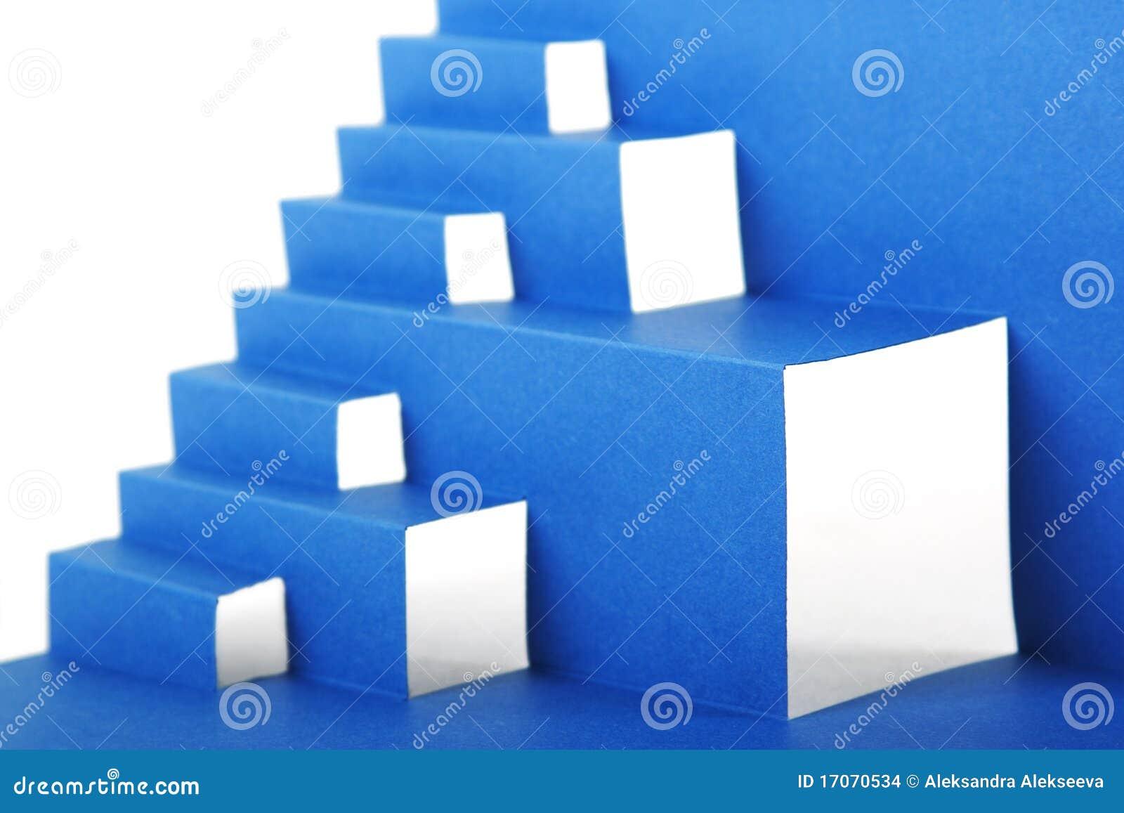 Composición Abstracta Del Papel Azul Con Las Escaleras Foto de ...