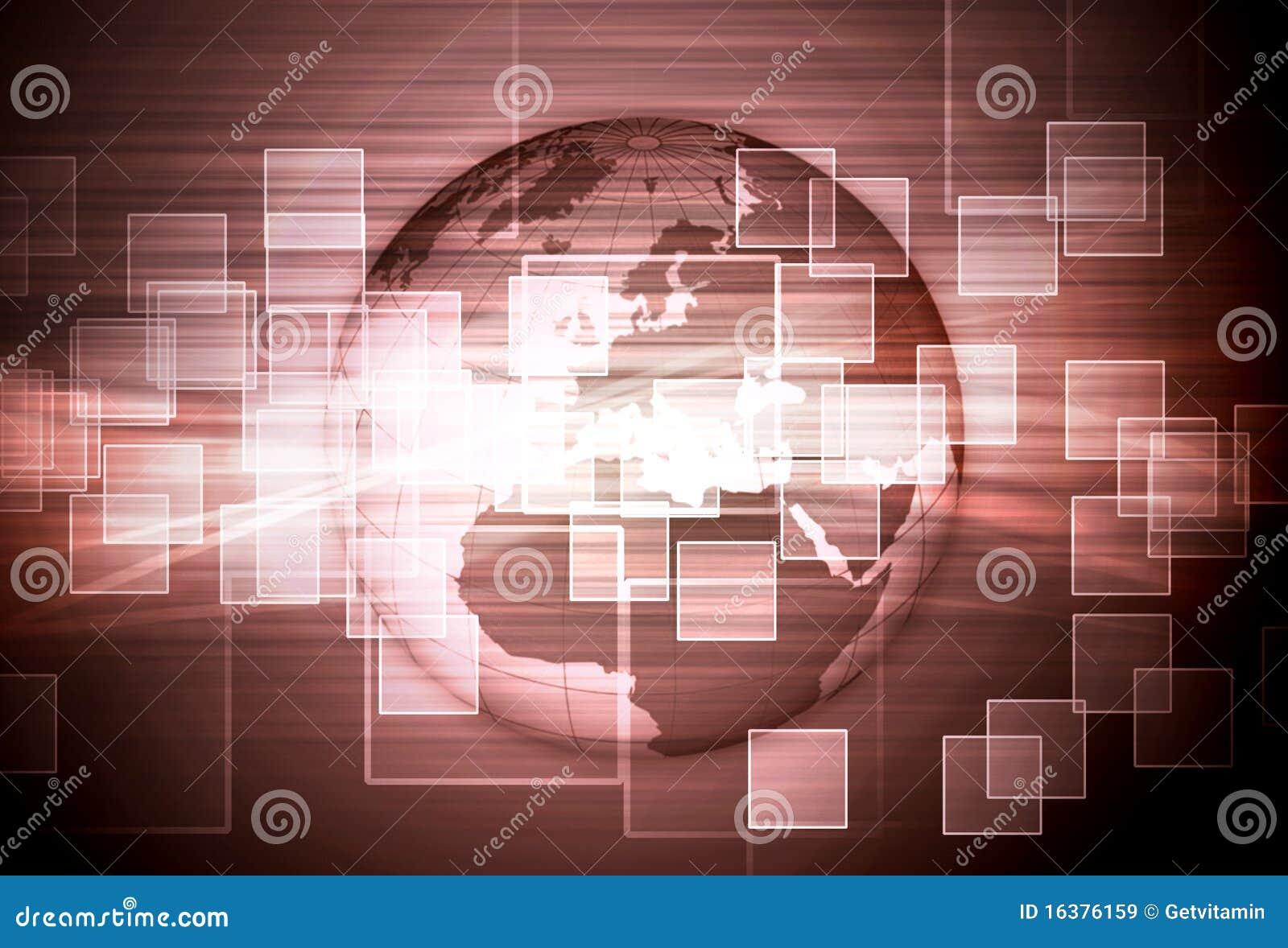 Composición de alta tecnología del mosaico del globo