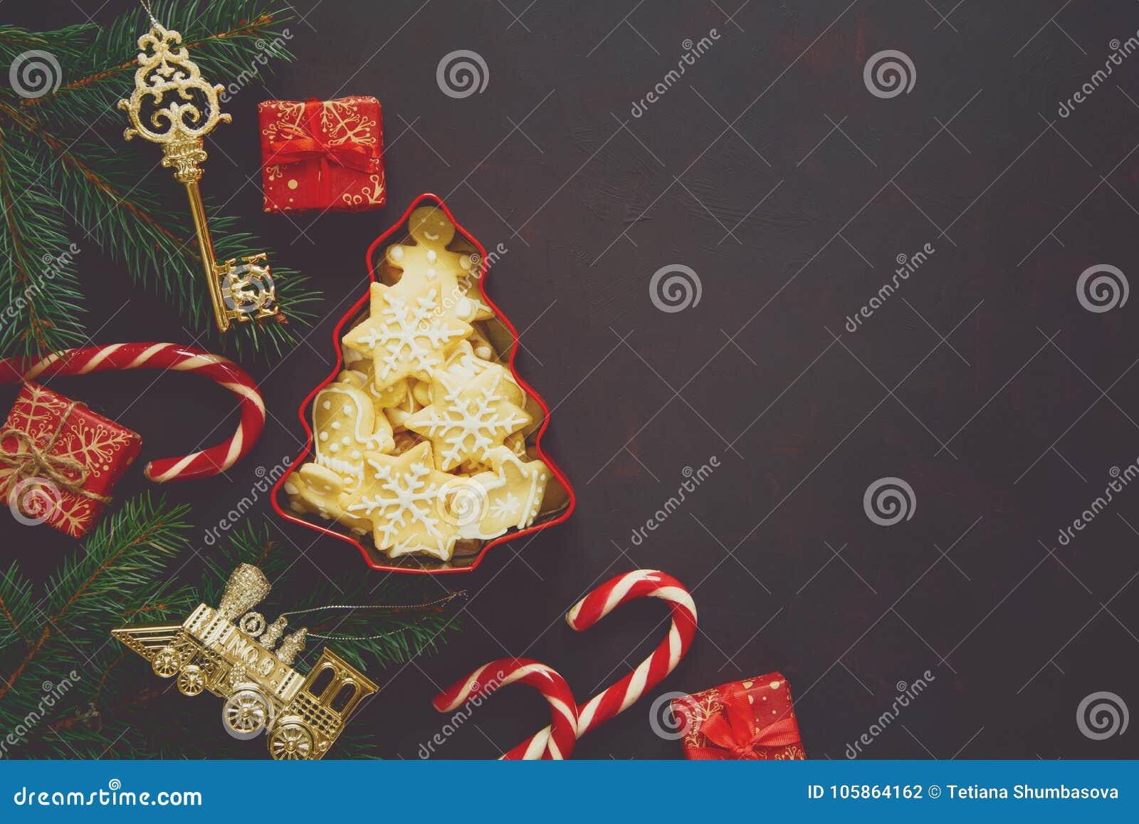 NavidadGalletas Composición Pan Navidad Árbol Del De La EWHD29IY