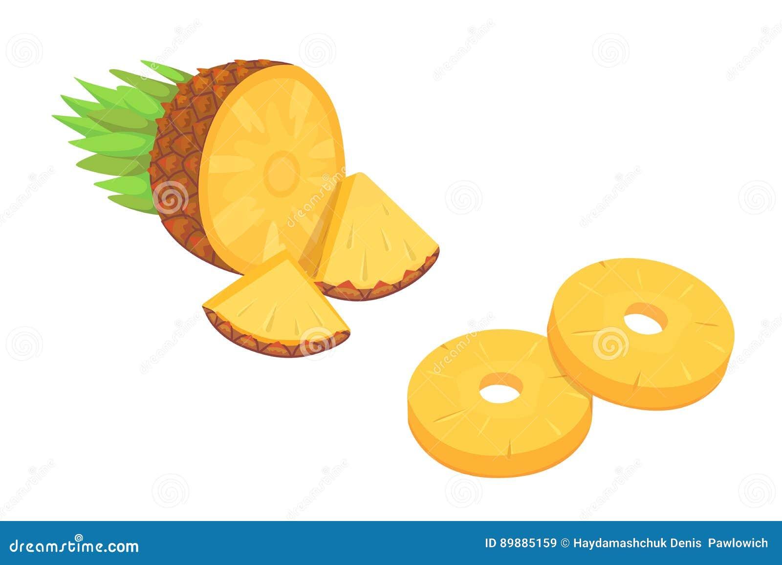 Composición De La Piña De La Historieta En La Fruta Tropical Del ...