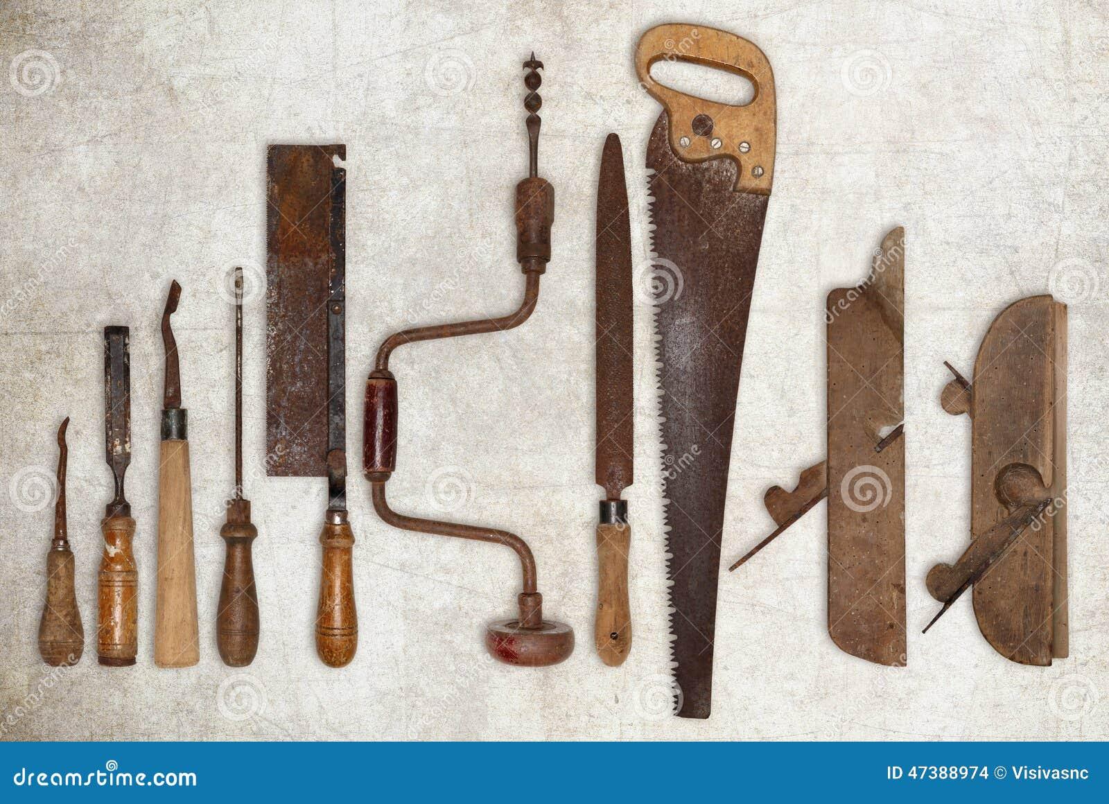 composici n de las herramientas viejas para la madera foto de archivo imagen de carving viejo. Black Bedroom Furniture Sets. Home Design Ideas