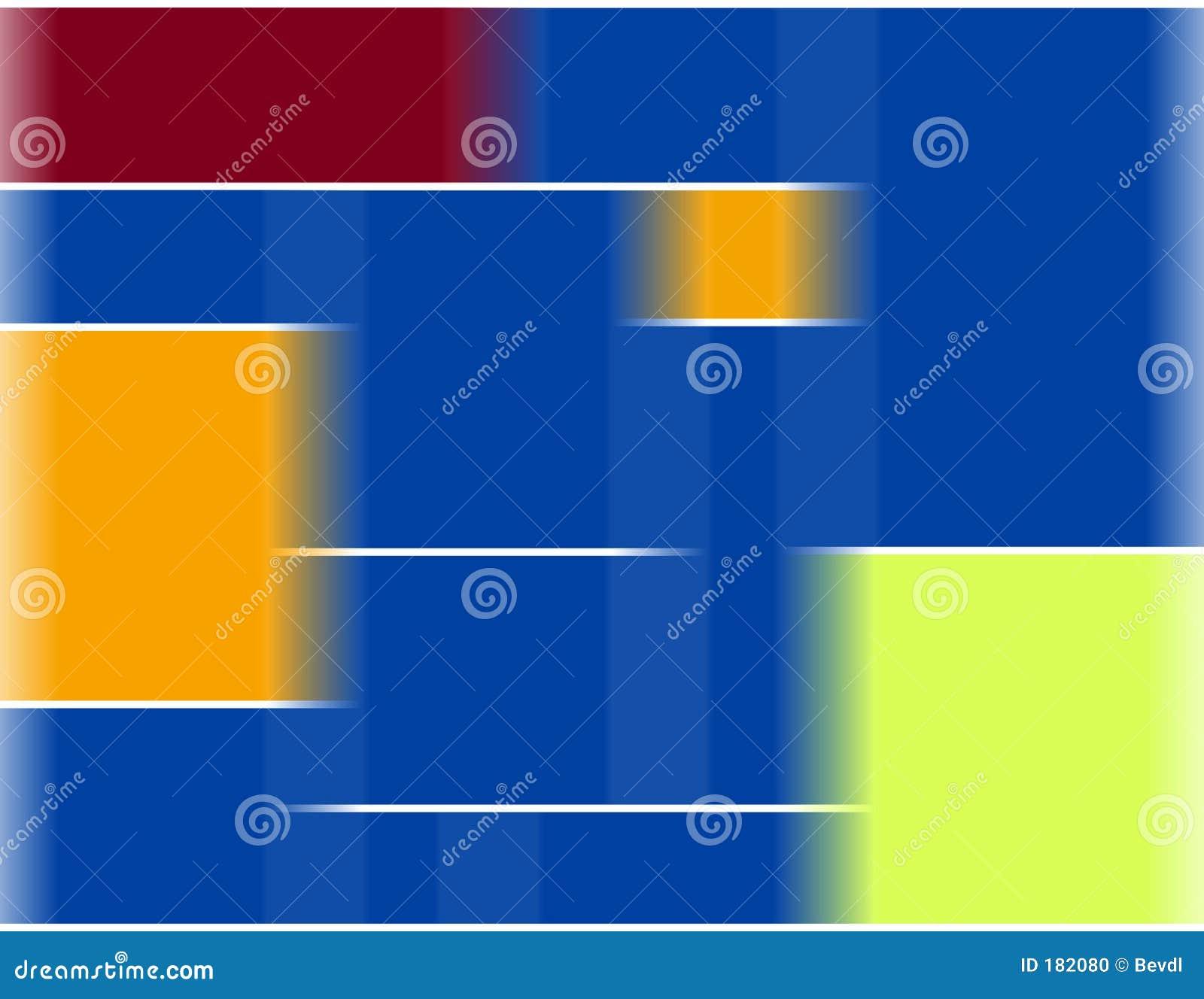 Composición del estilo de Mondrian