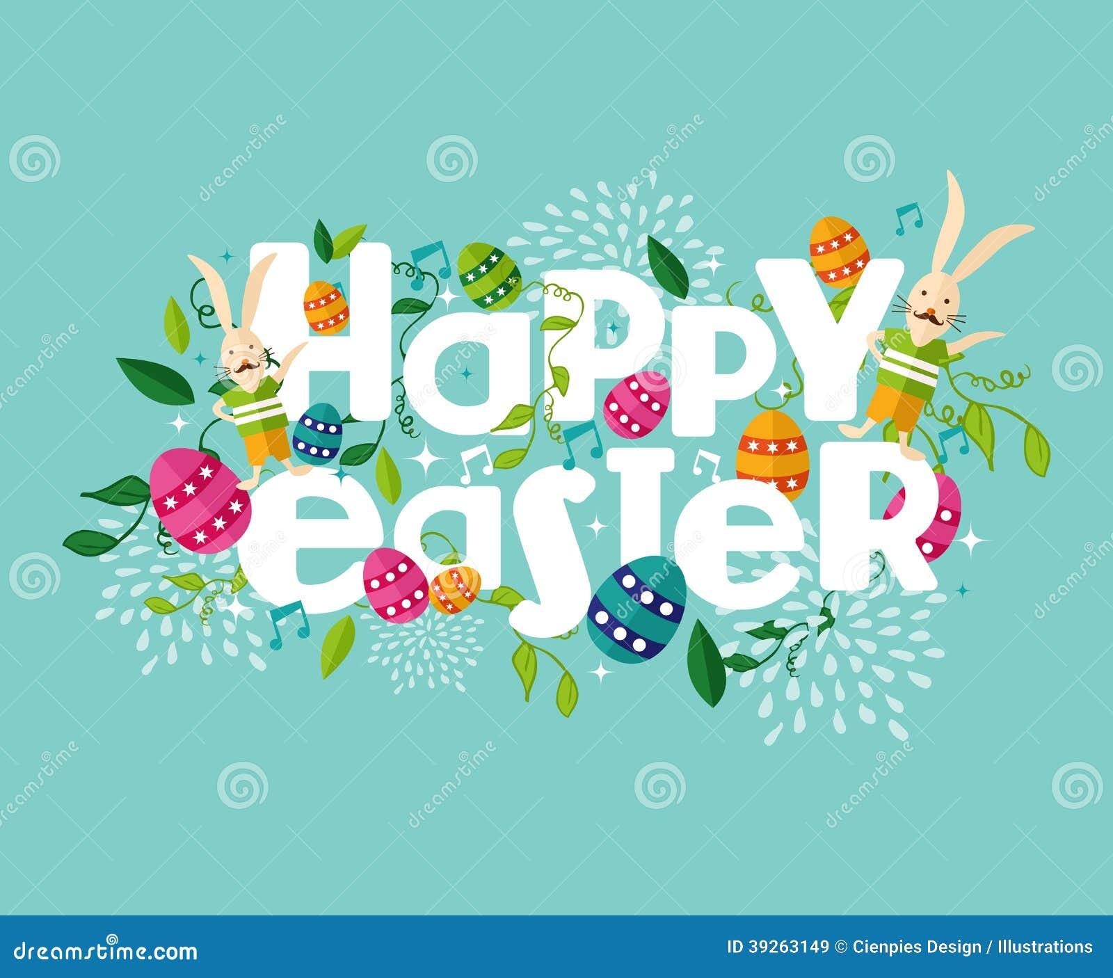 Composición feliz colorida de Pascua