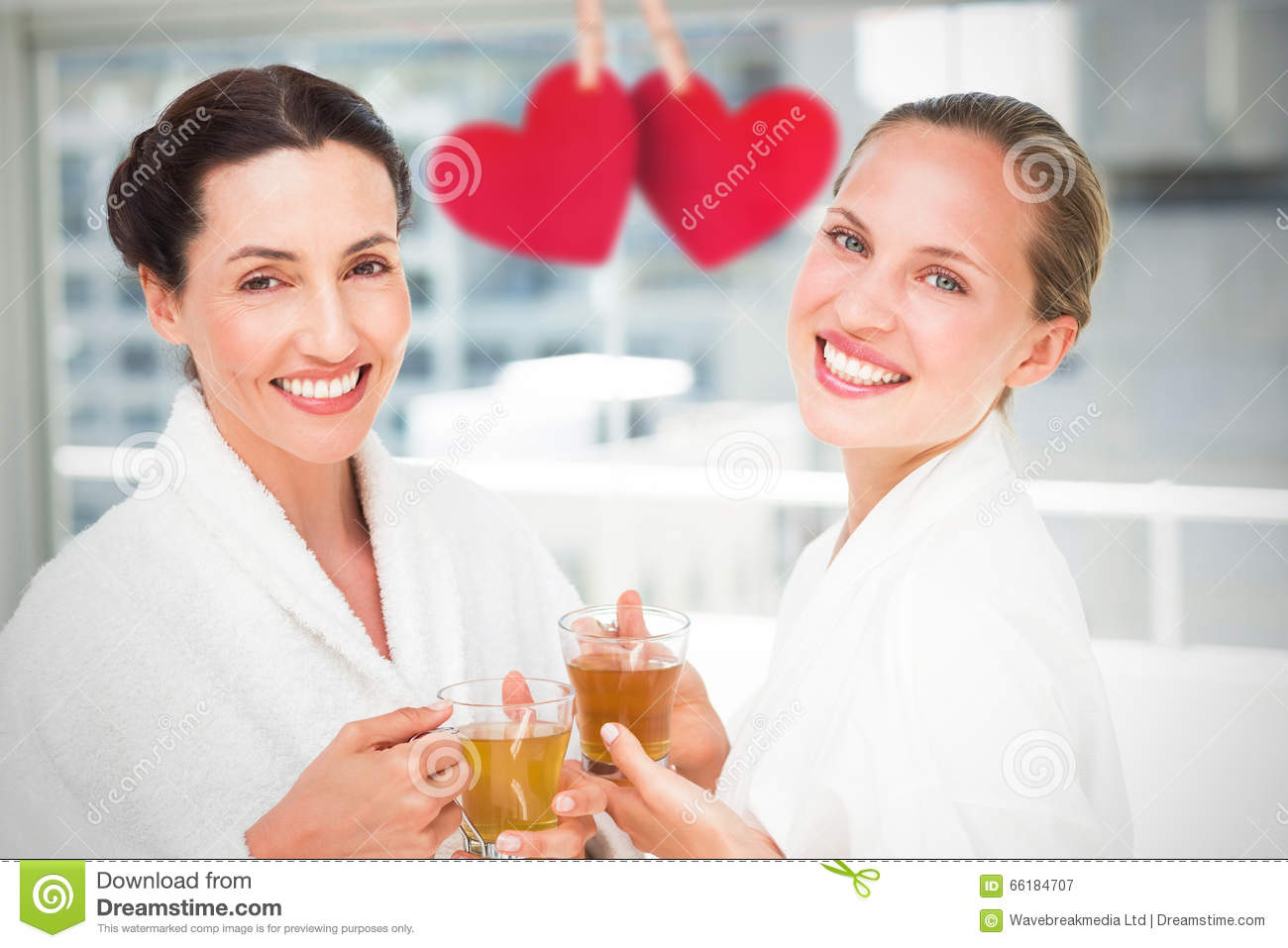 Composite Image Of Couple Friends Having A Spa Day Stock ...