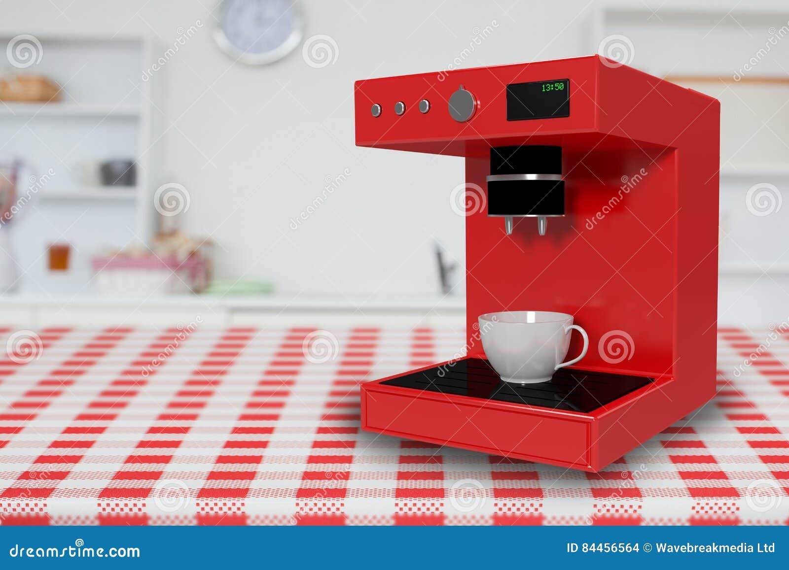Composite image of digital composite image of coffee maker 3d