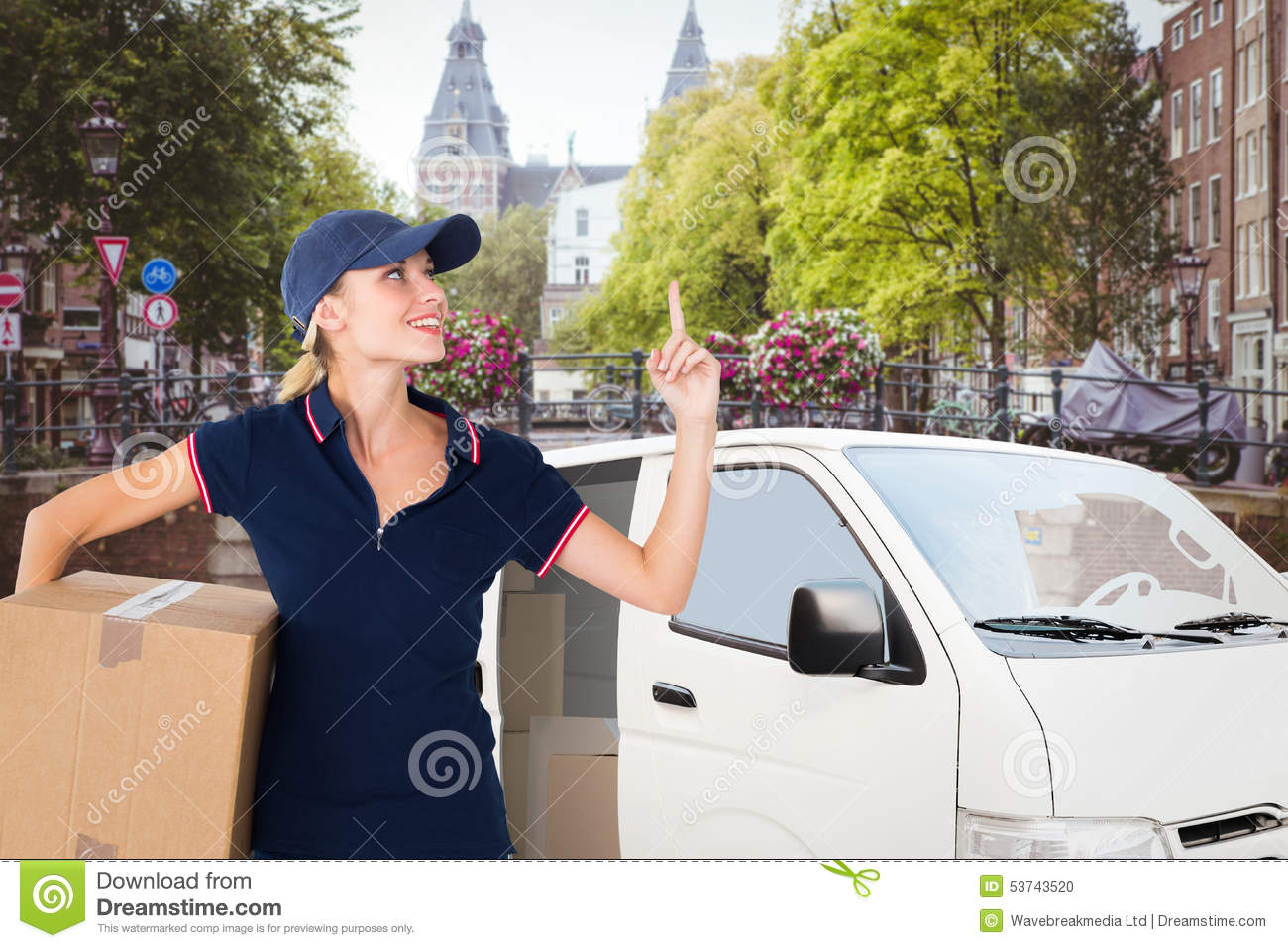 Ups Delivery Woman Composite Image...