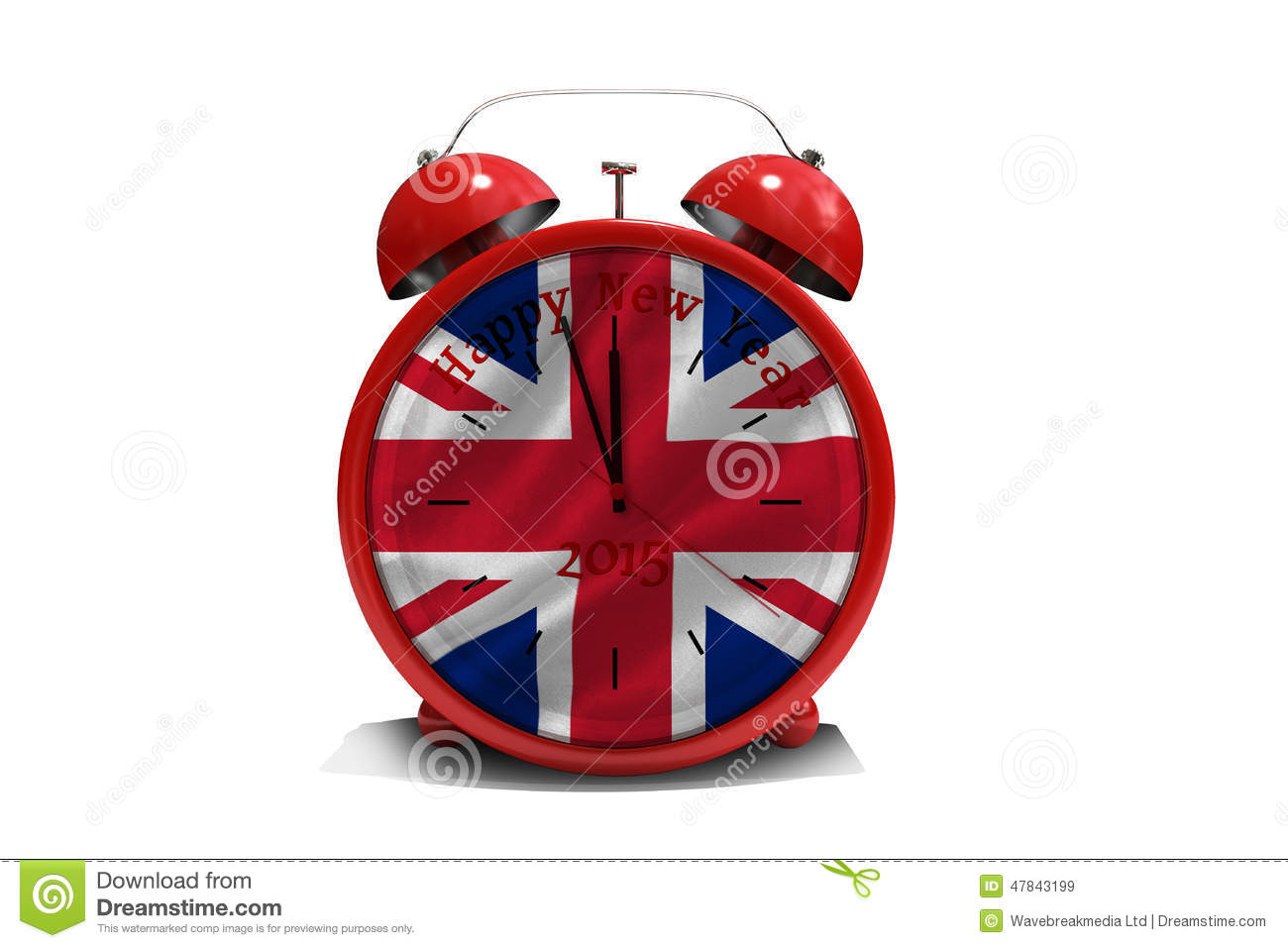 download composite image of happy new year in red alarm clock stock illustration illustration of
