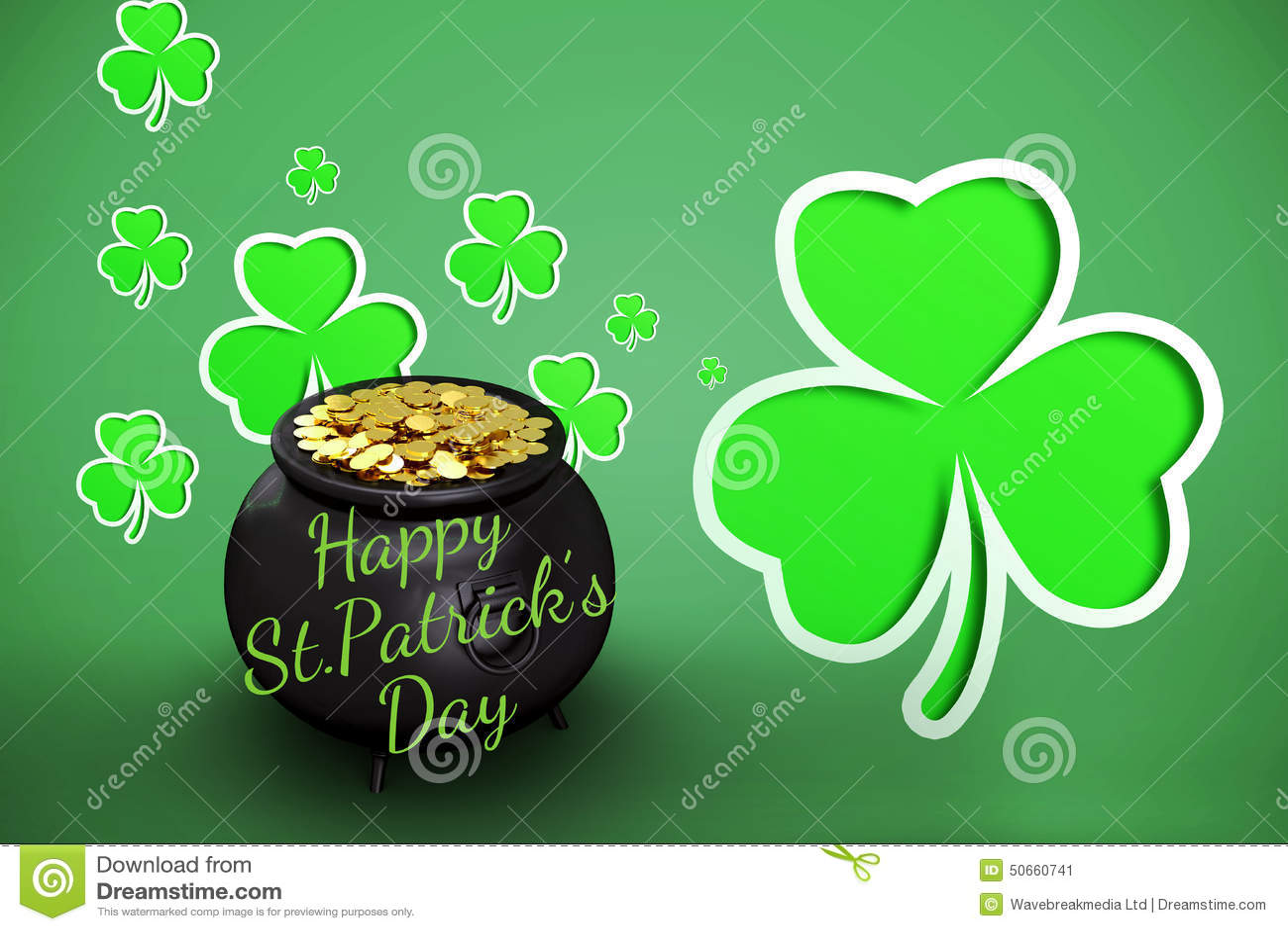 Composite image of happy st patricks day