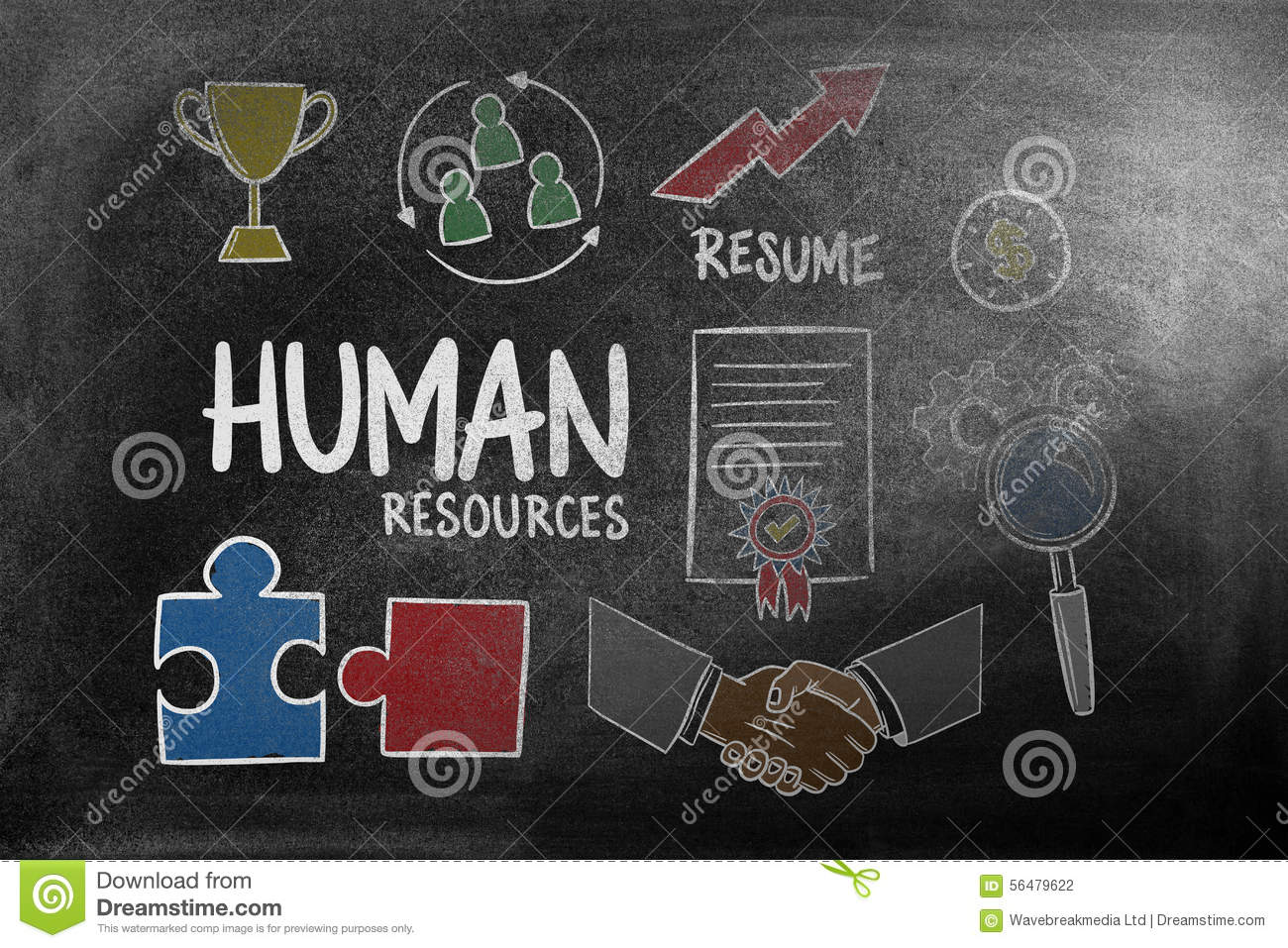 composite image of human resources doodle stock