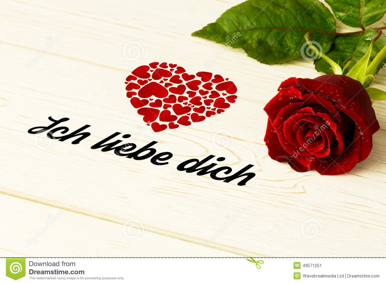 Composite Image Of Ich Liebe Dich Stock Illustration