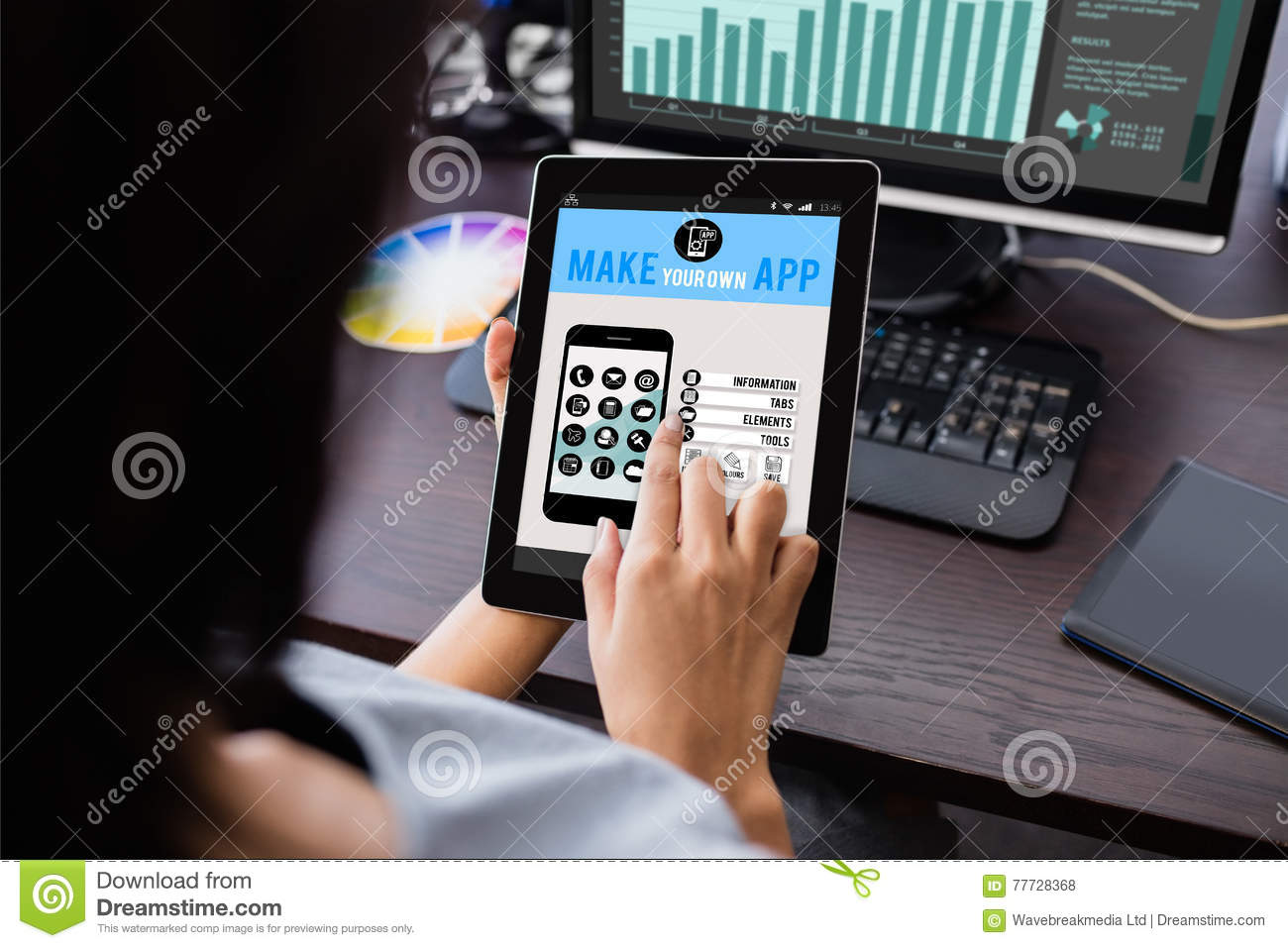 Composite Image Of Make Your Own App Smartphone Royalty Free Stock Image