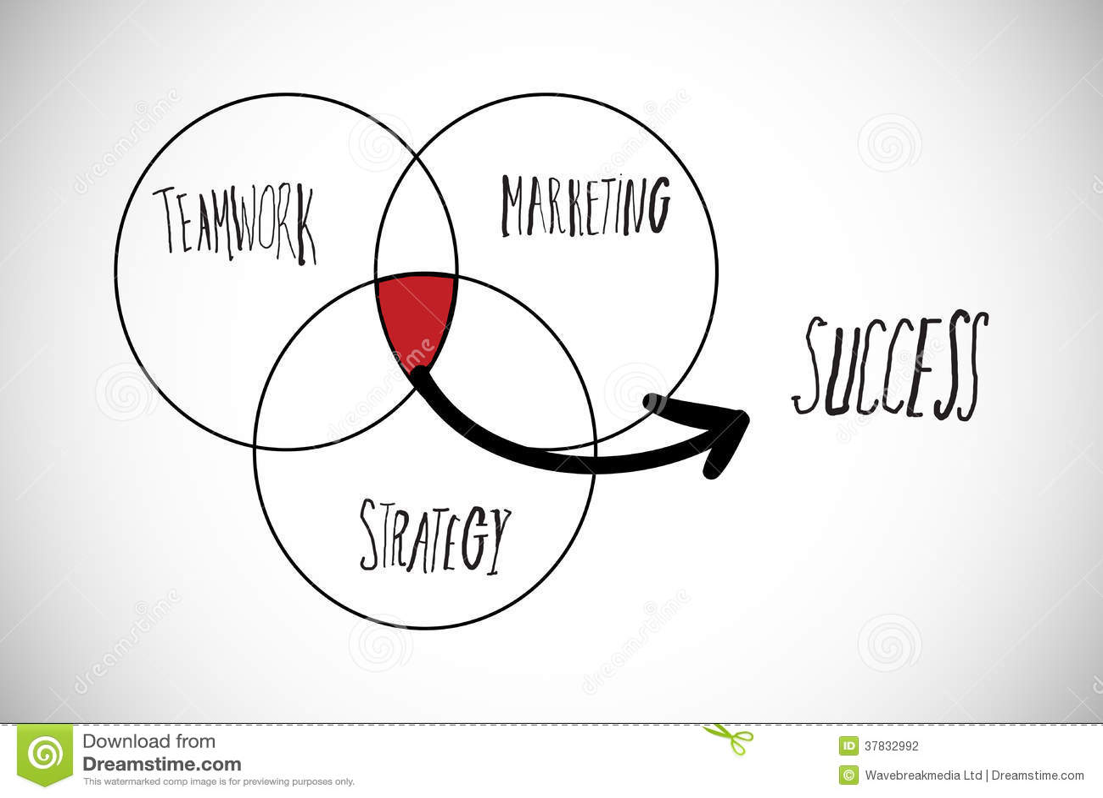 Composite image of success venn diagram stock illustration composite image of success venn diagram ccuart Choice Image