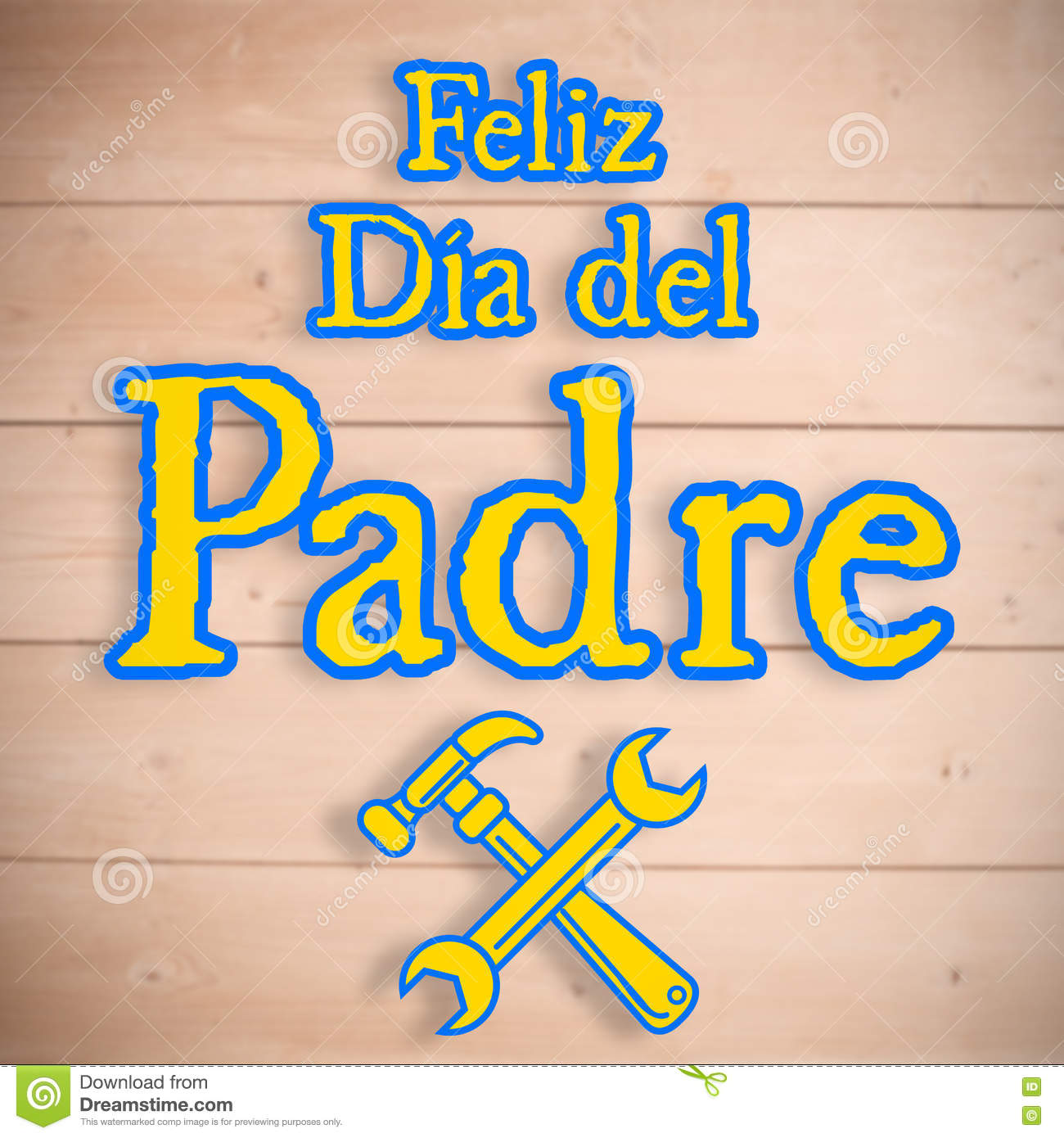 feliz dia del padre happy fathers day written in spanish. Black Bedroom Furniture Sets. Home Design Ideas