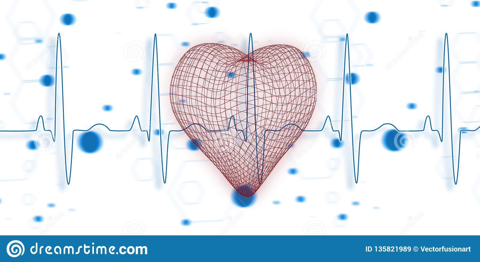 Composite image of vector image of?�?�3d heart shape