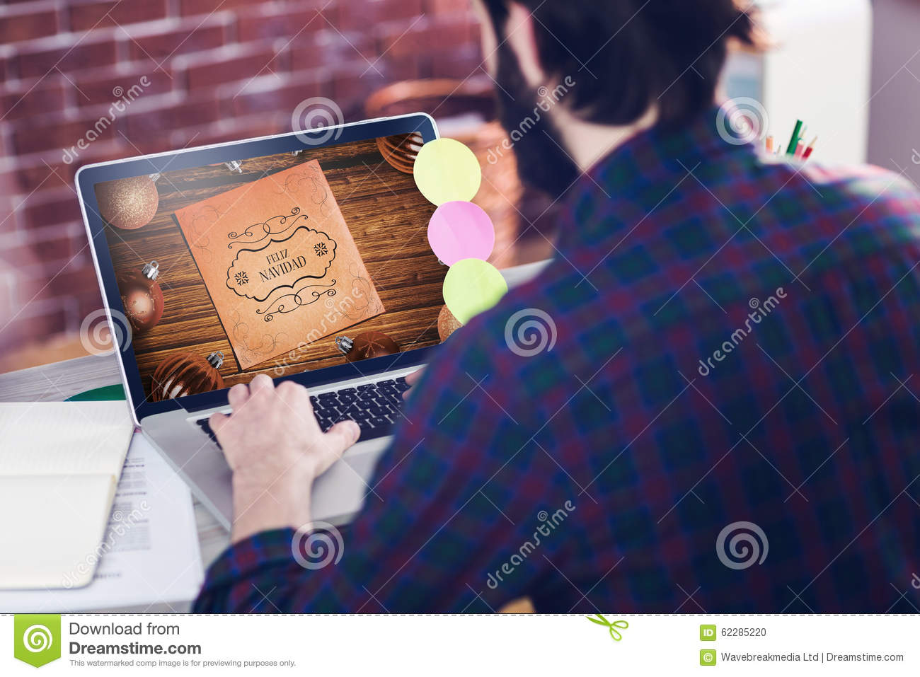 Composite Image Of Web Course Ad Stock Photo - Image: 62285220