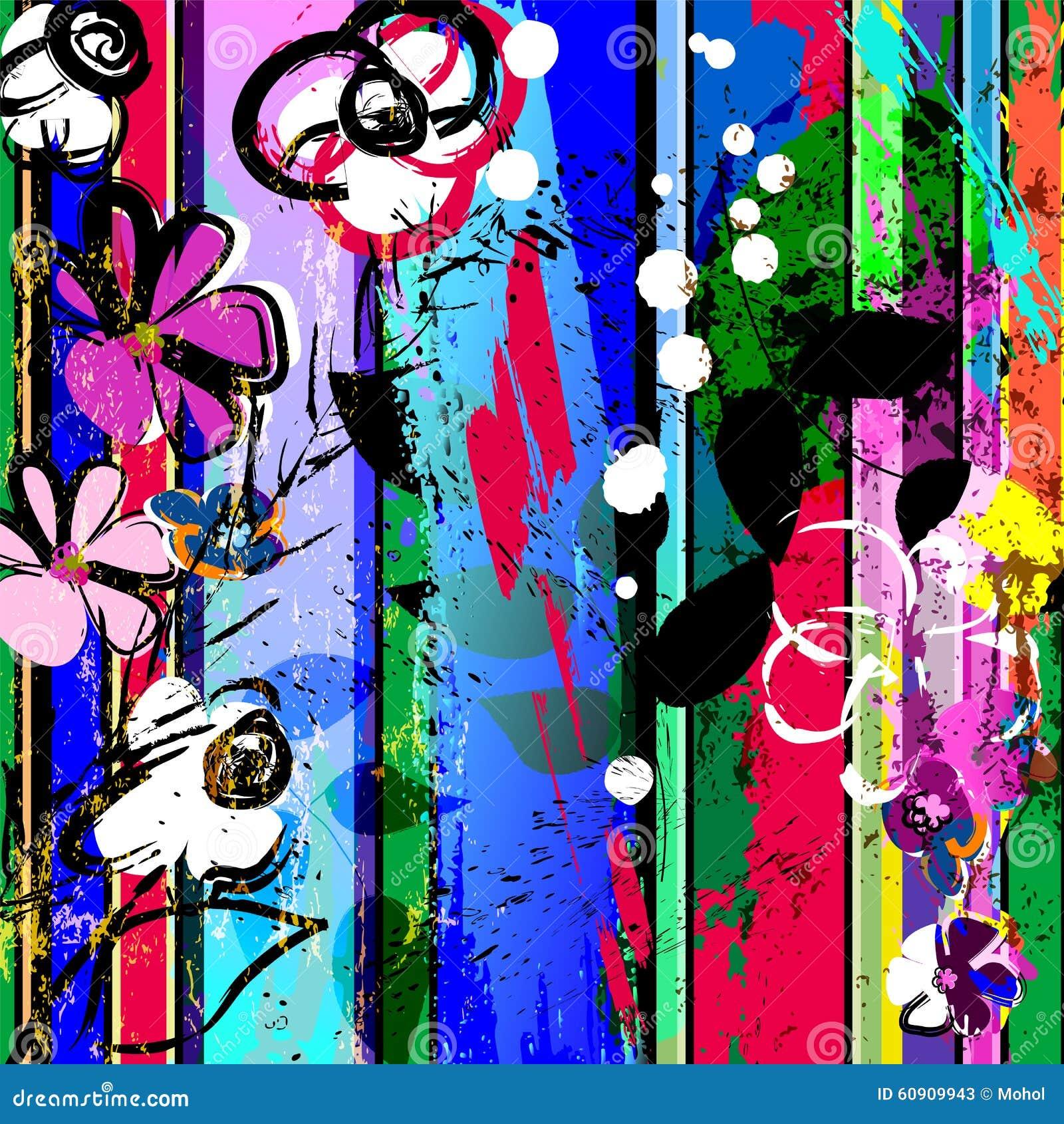 Composition abstraite de fleur
