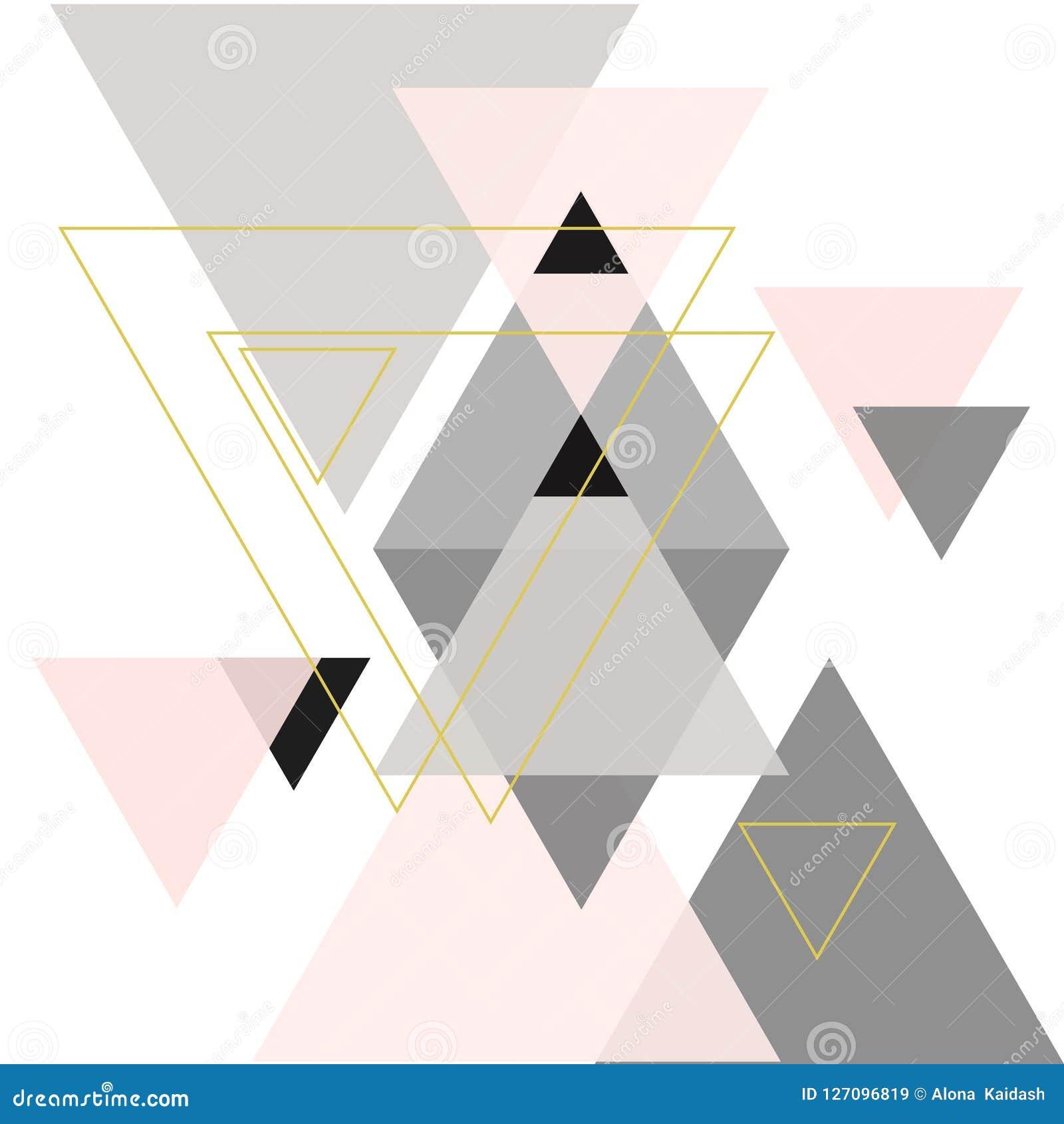 Composition abstraite des formes géométriques