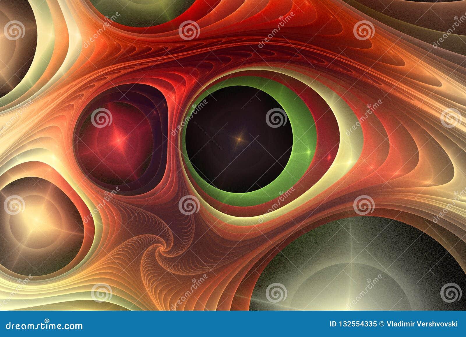 Composition abstraite en couleur de fractale