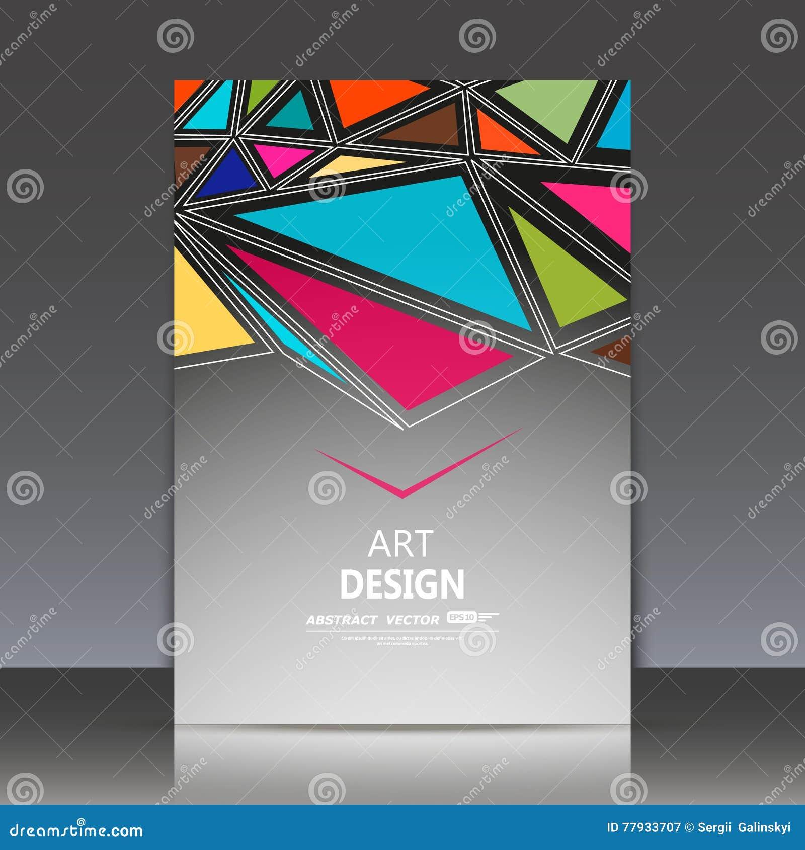 Composition Abstraite Feuille De Titre La Brochure A4 Forme Gomtrique Patchwork