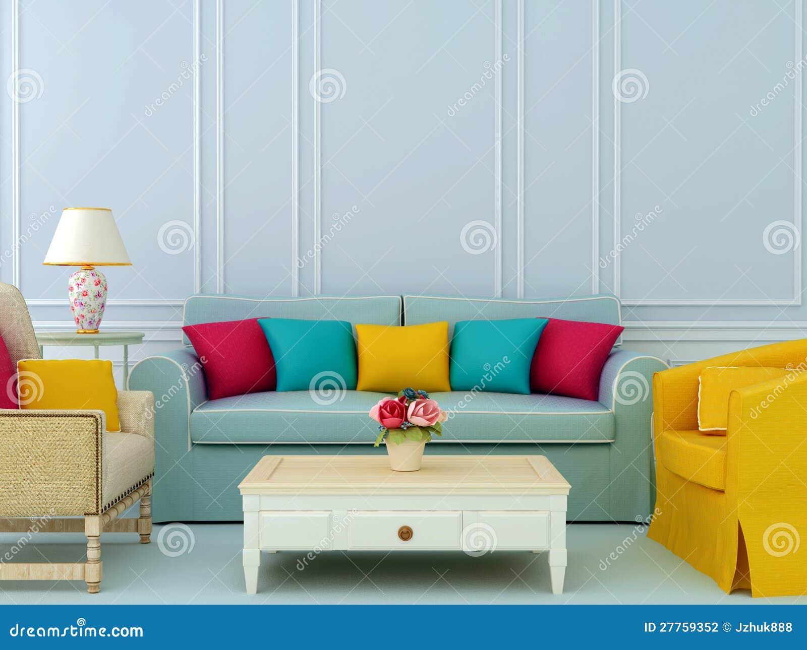 Composition avec le sofa et les fauteuils