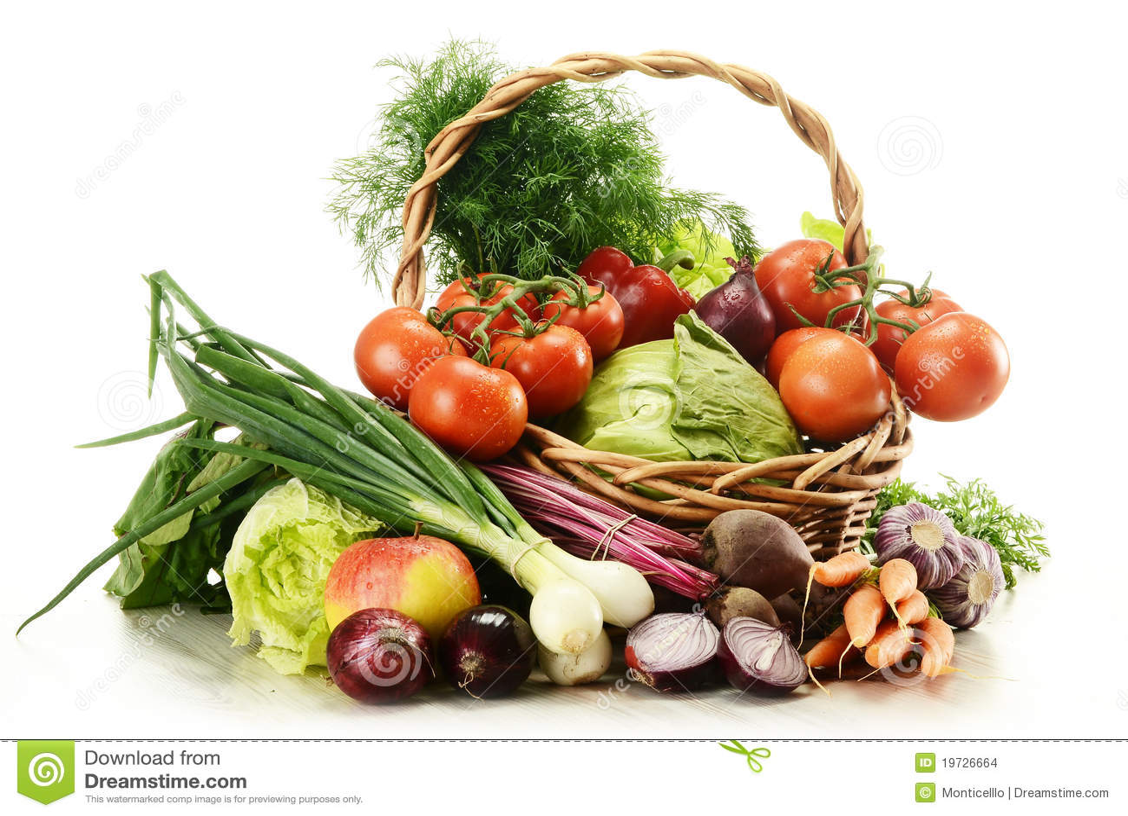 Composition avec les l gumes crus et le panier en osier - Composition florale avec fruits legumes ...