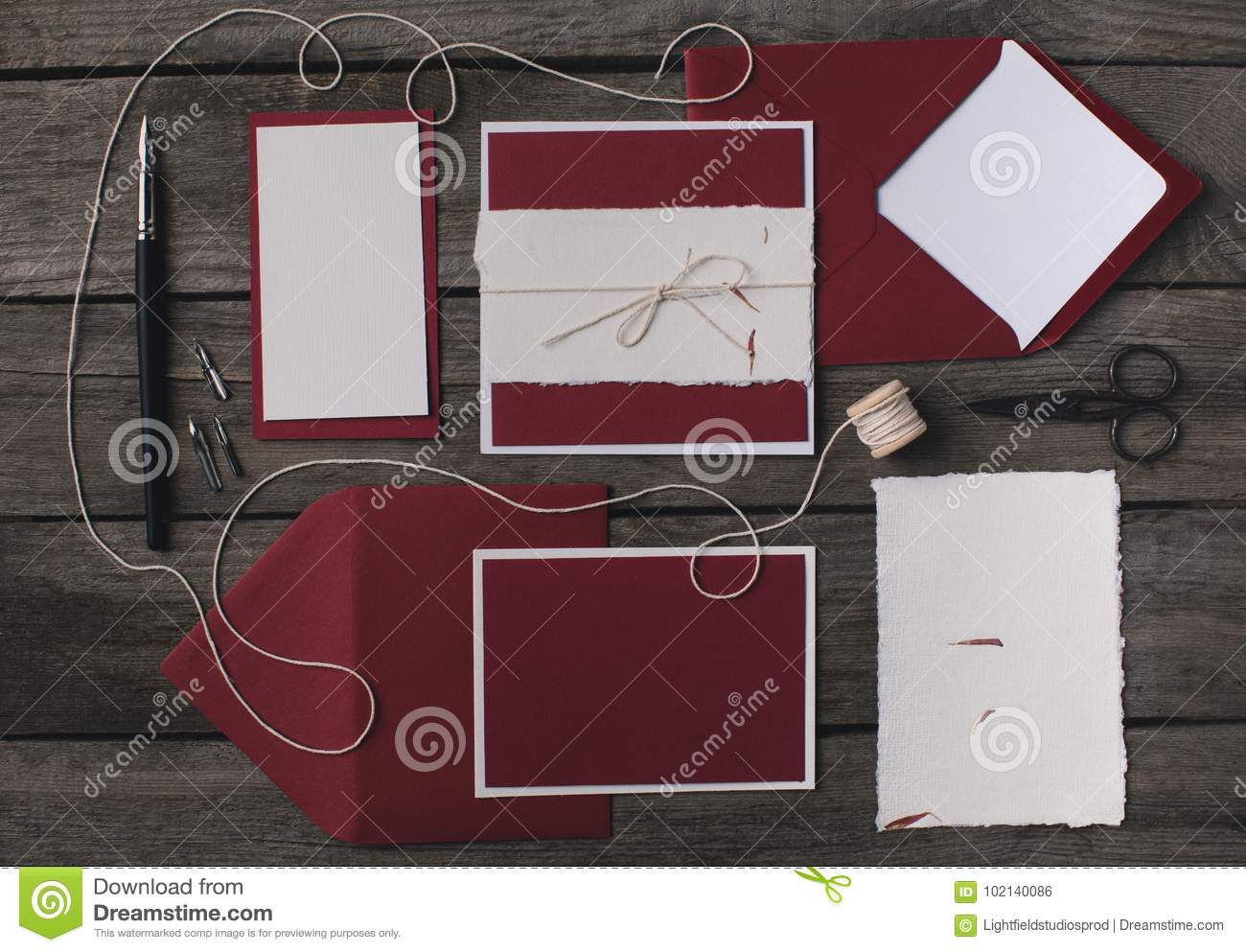 composition of holiday invitations stock photo image of mockup