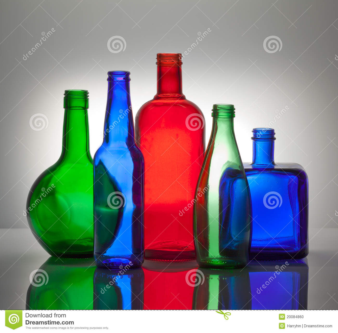 download composition from color glass bottles stock photo image of bottle bottles 20084860 - Colored Glass Bottles
