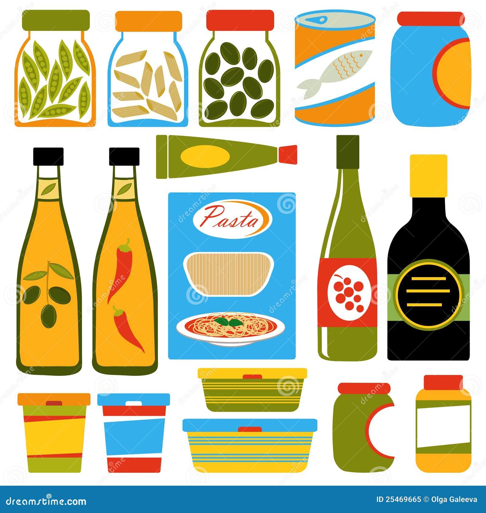 Composition de nourriture colorée