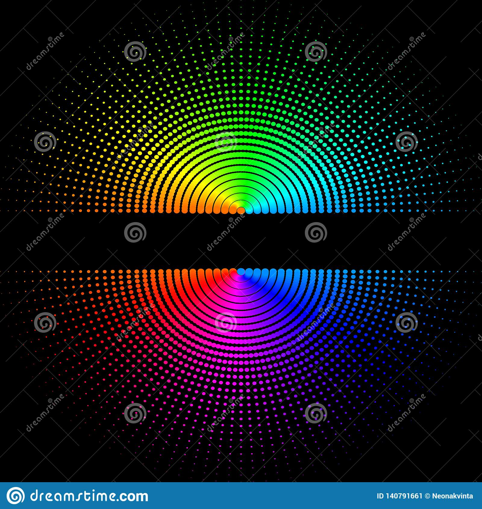 Composition des boules colorées rondes sur un fond noir