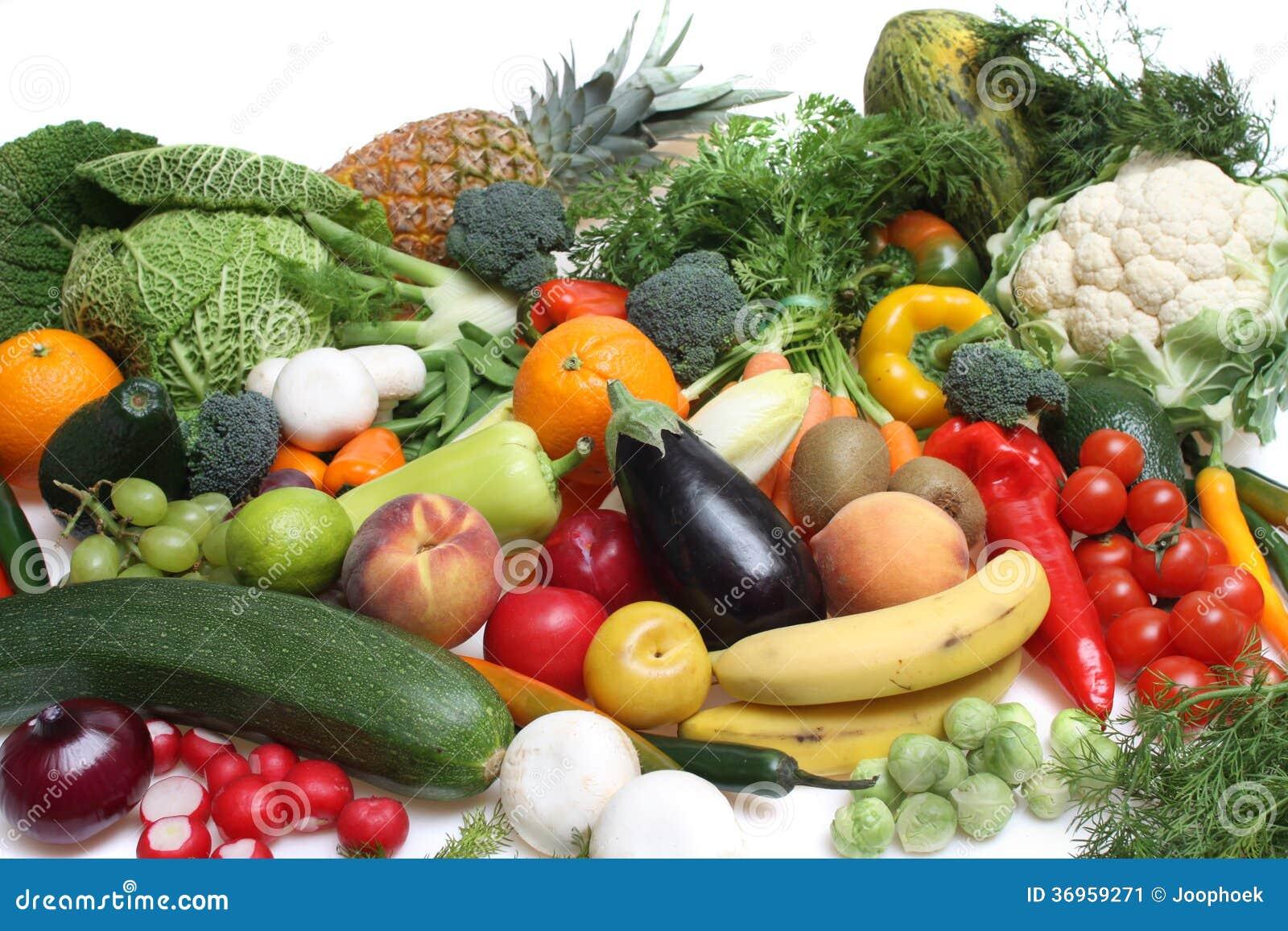 Composition des fruits et l gumes image stock image 36959271 - Fruits et legumes de a a z ...