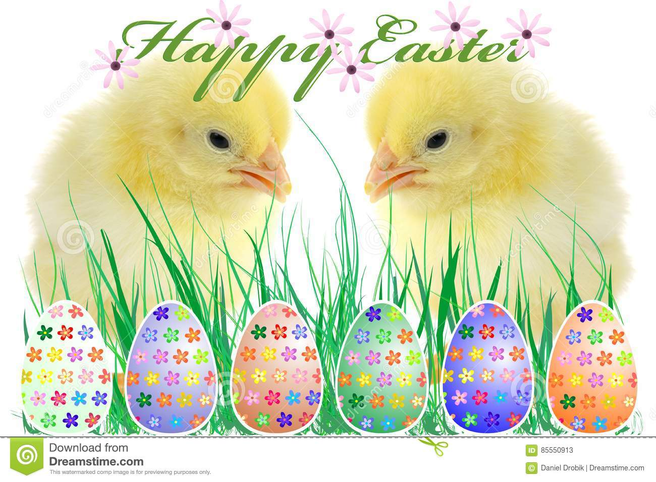The Composition Of Easter Stock Illustration Illustration Of Element 85550913