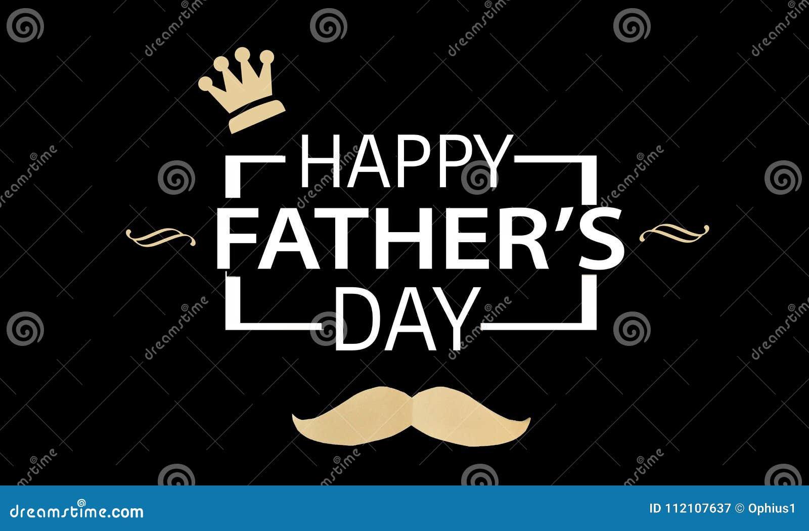 Composition en jour de pères sur le noir Composition en jour de pères sur le fond en bois