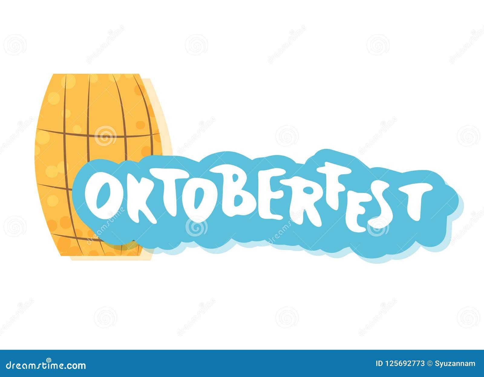 Composition en lettrage d Oktoberfest Illustration de vecteur