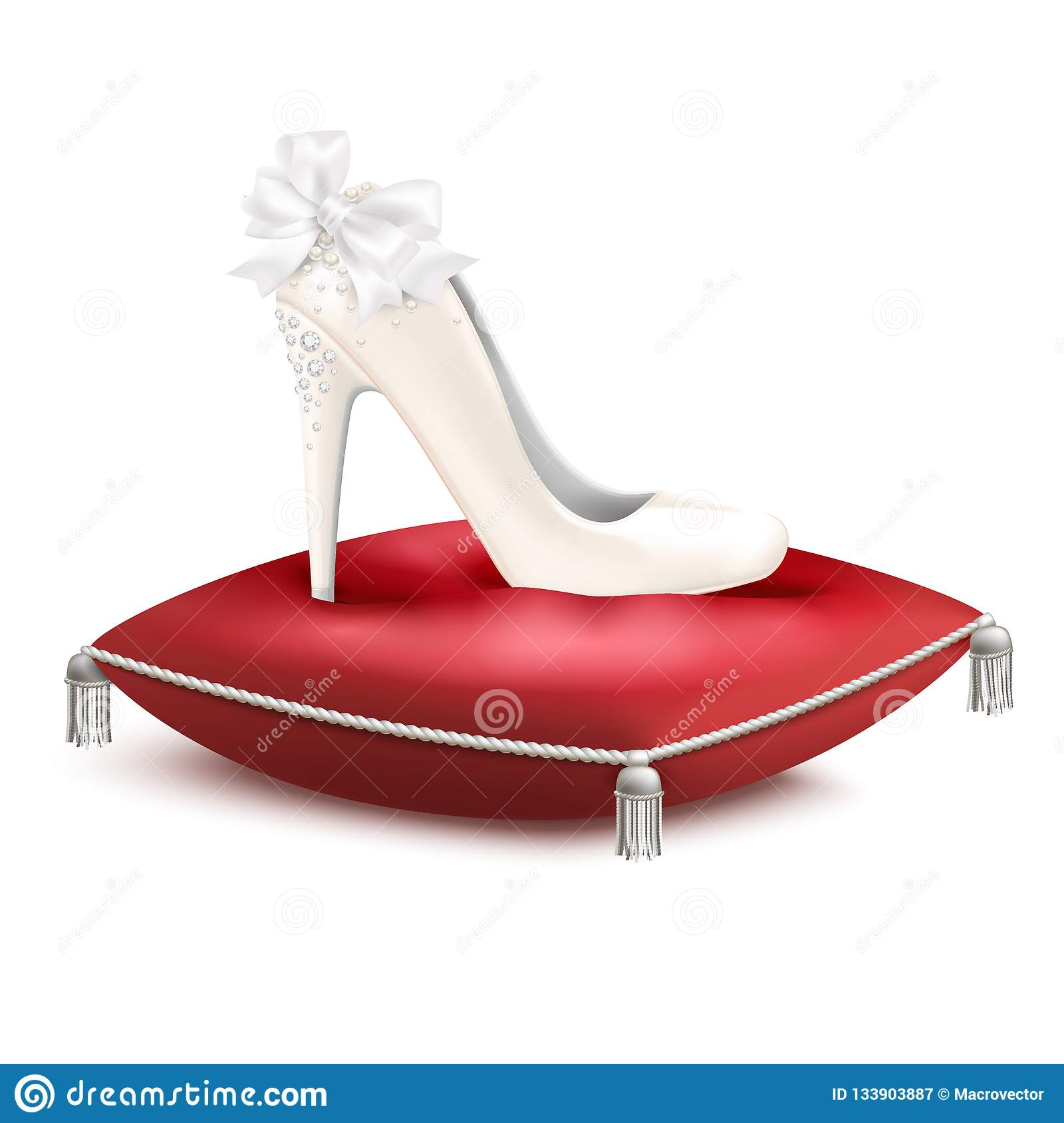 Composition en princesse Shoe Pillow Realistic