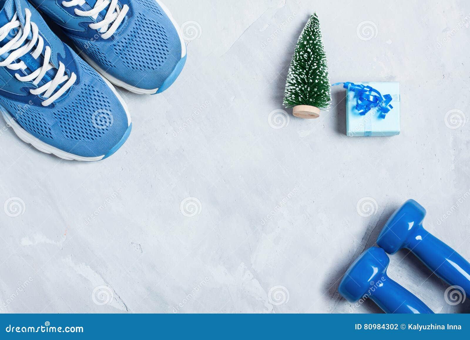 Haltères En Composition Chaussures De Le Noël Avec Et Des Sport TTdn6wx0