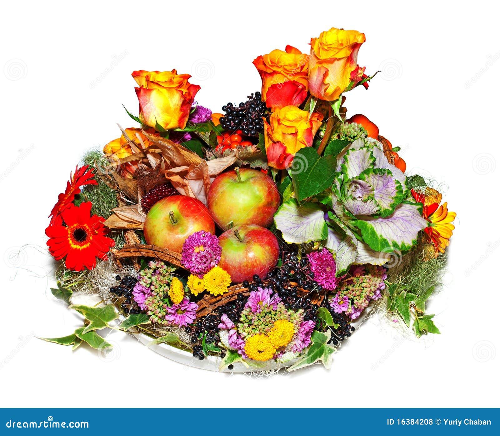 composition florale automnale photo stock image du mangez moisson 16384208. Black Bedroom Furniture Sets. Home Design Ideas