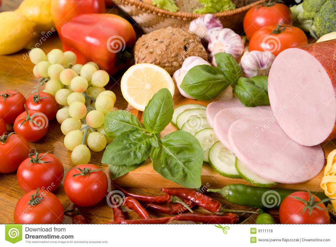 composition of food royalty free stock images image 9111119