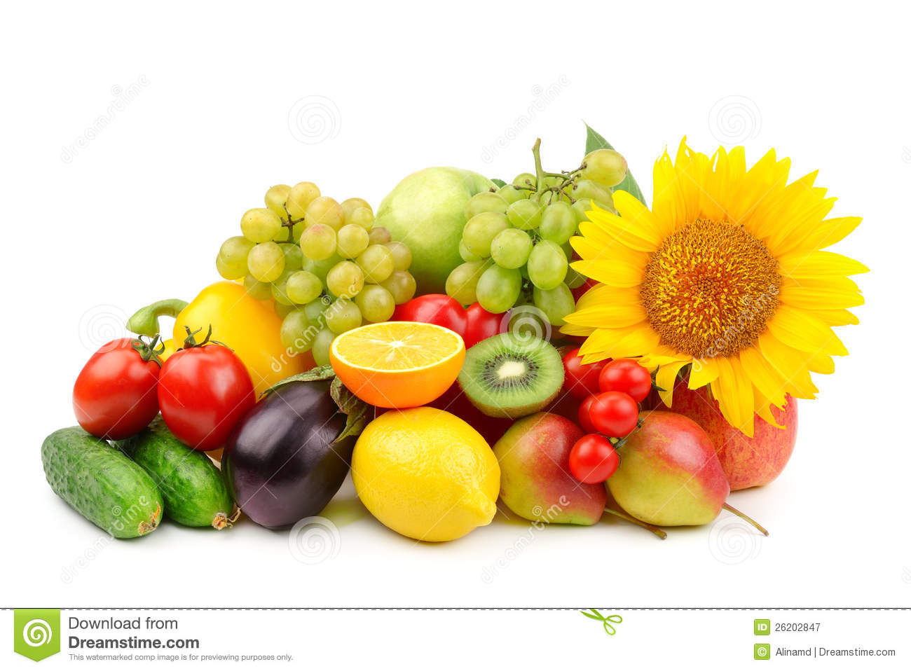 Composition of fruits and vegetables stock image image 26202847 - Composition florale avec fruits legumes ...