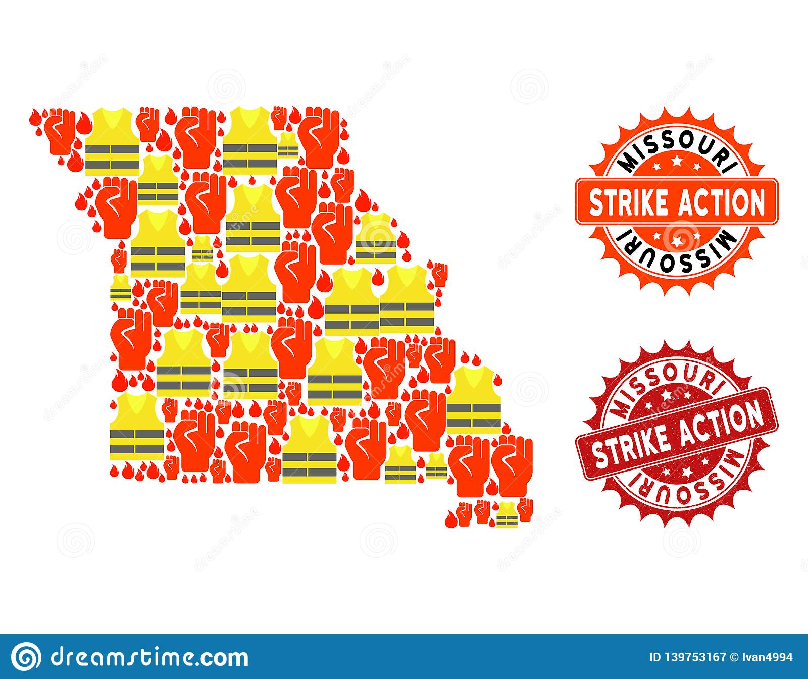 Composition Of Gilet Jaunes Protest Map Of Missouri State ...